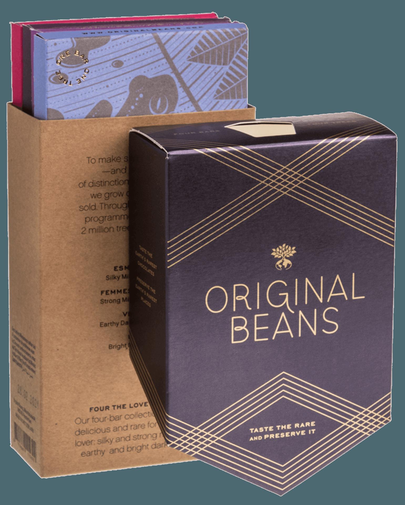 Box mit vie Tafeln Schokolade