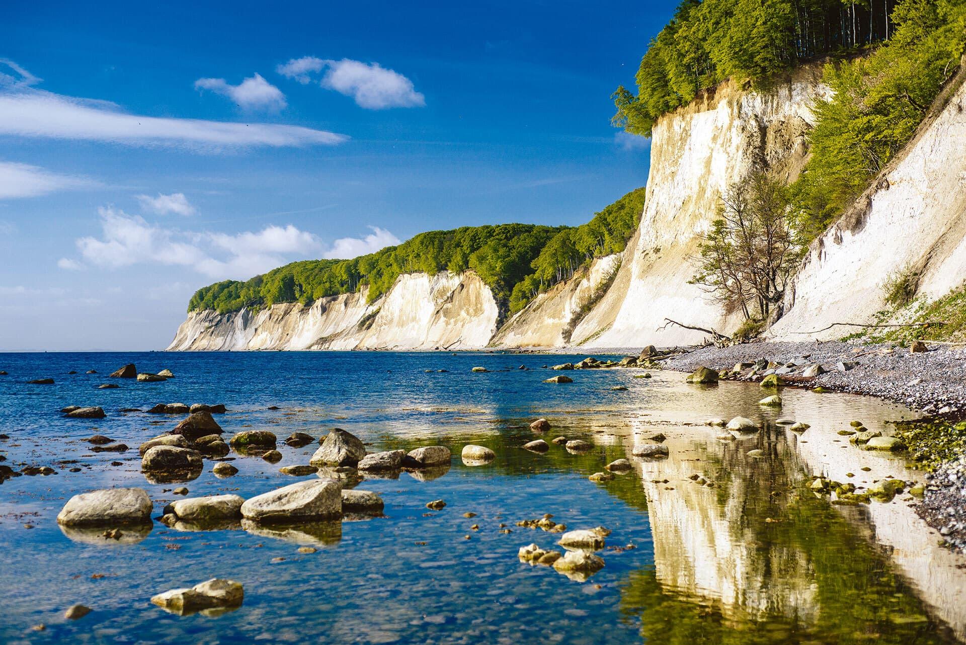 Die Steilküste des Jasmund Nationalparks.