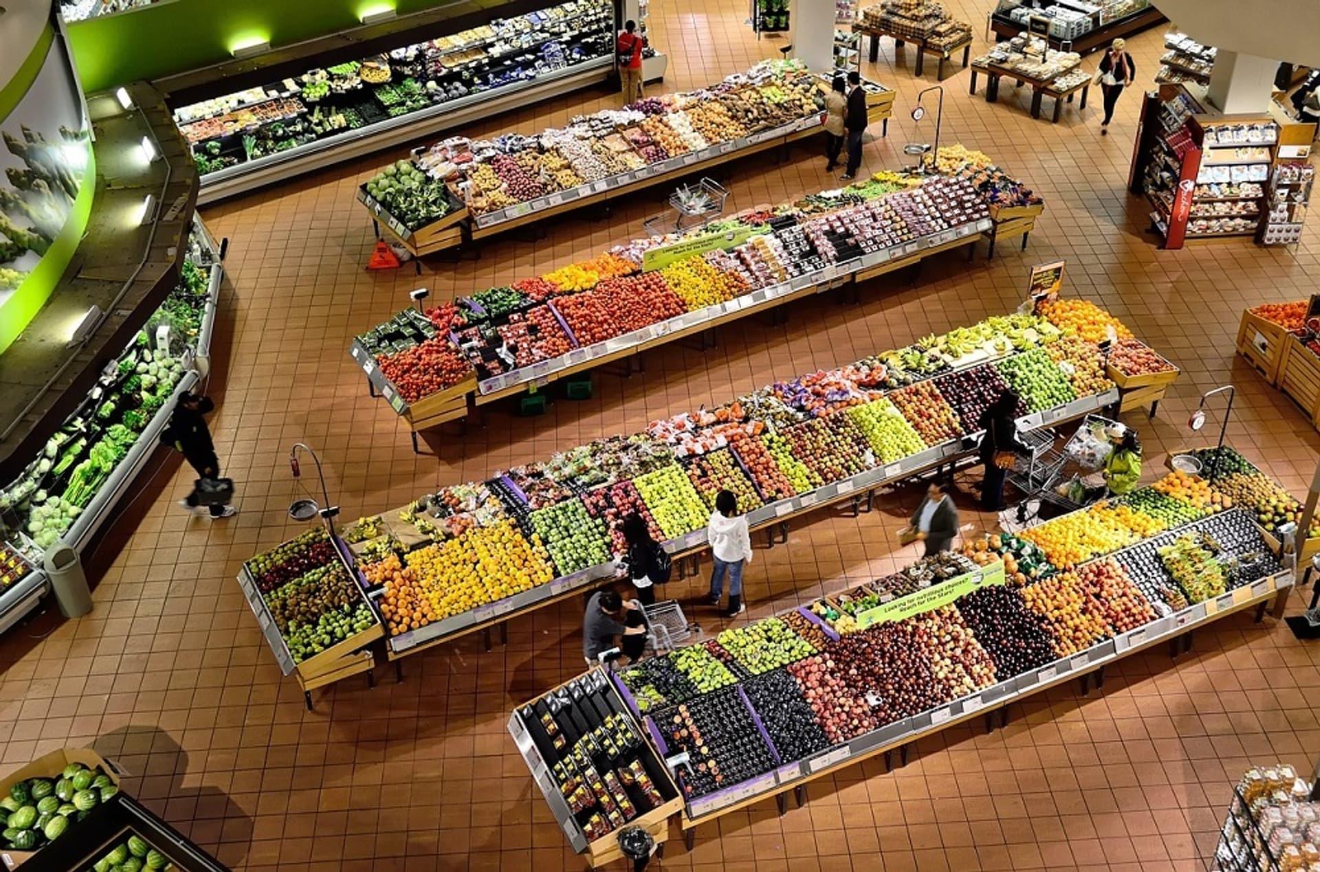 Supermarkt Gemüseabteilung