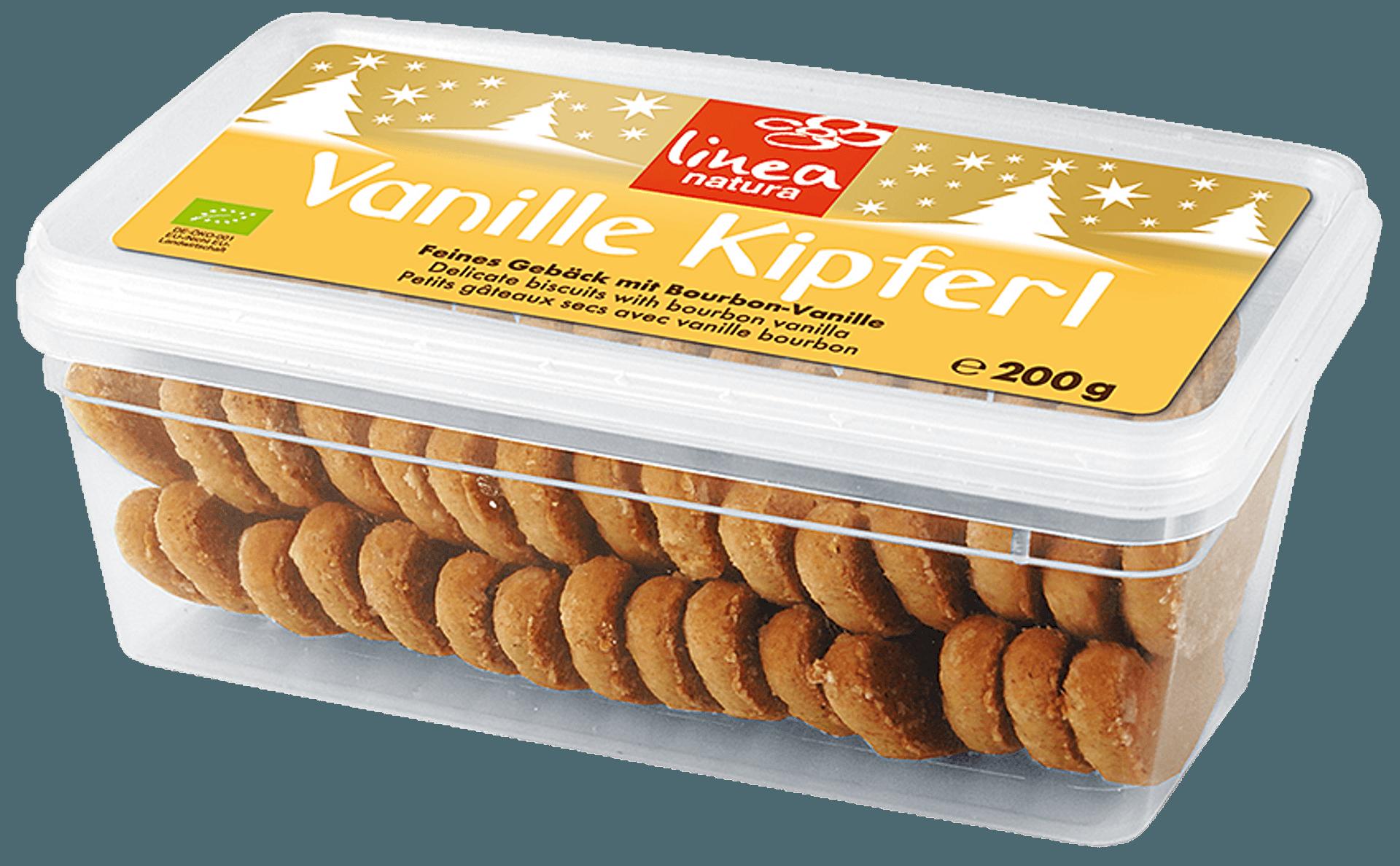 durchsichtige Box mit Keksen