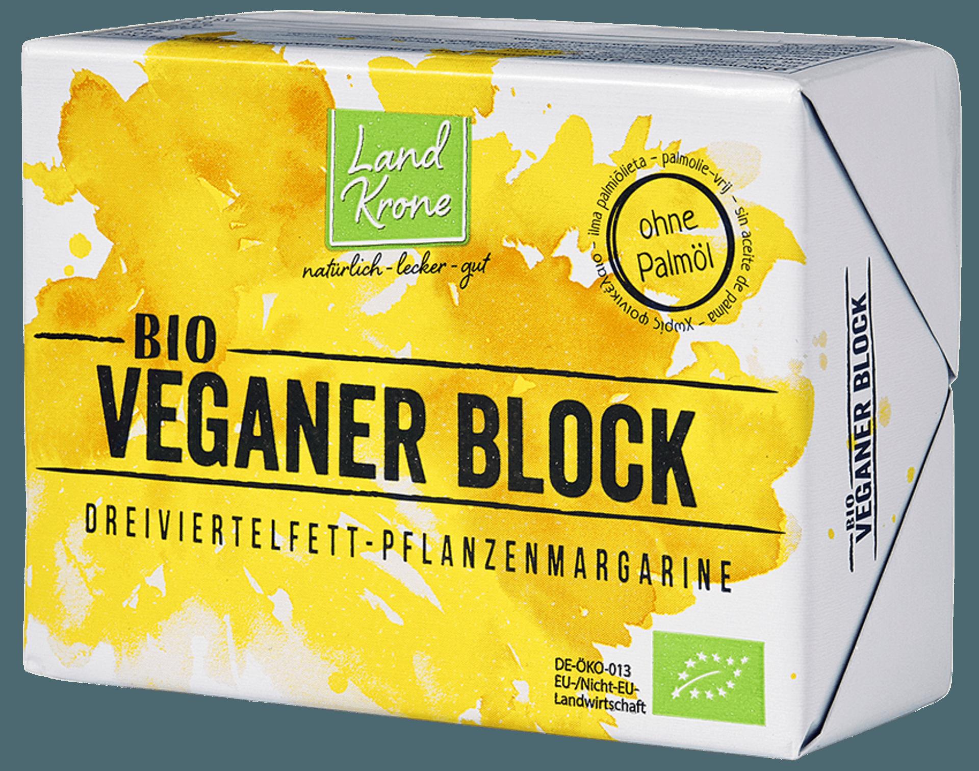 Veganer Block Pflanzenmargarine