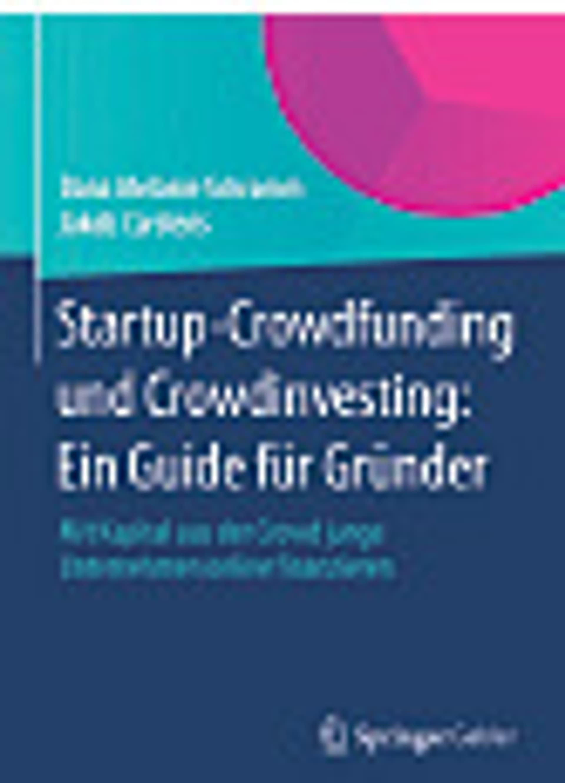 Startup Crowdfunding und Crowdinvesting