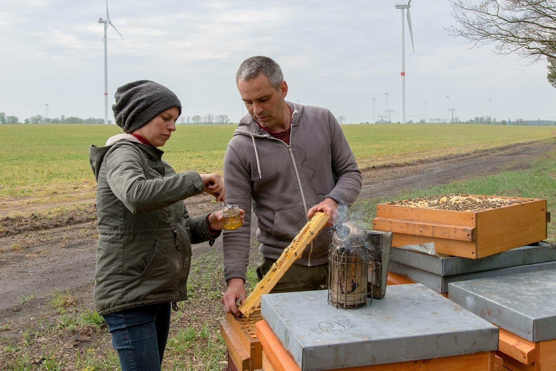 Imkerpaar Seusing Honigproben c Florian Amrhein