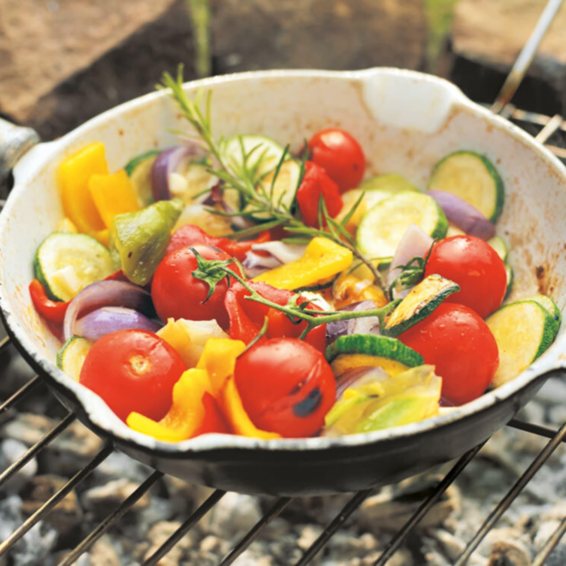 Warmer Salat von Grillgemüse