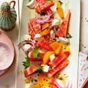 Wassermelonen-Salat mit Ziegenkäse