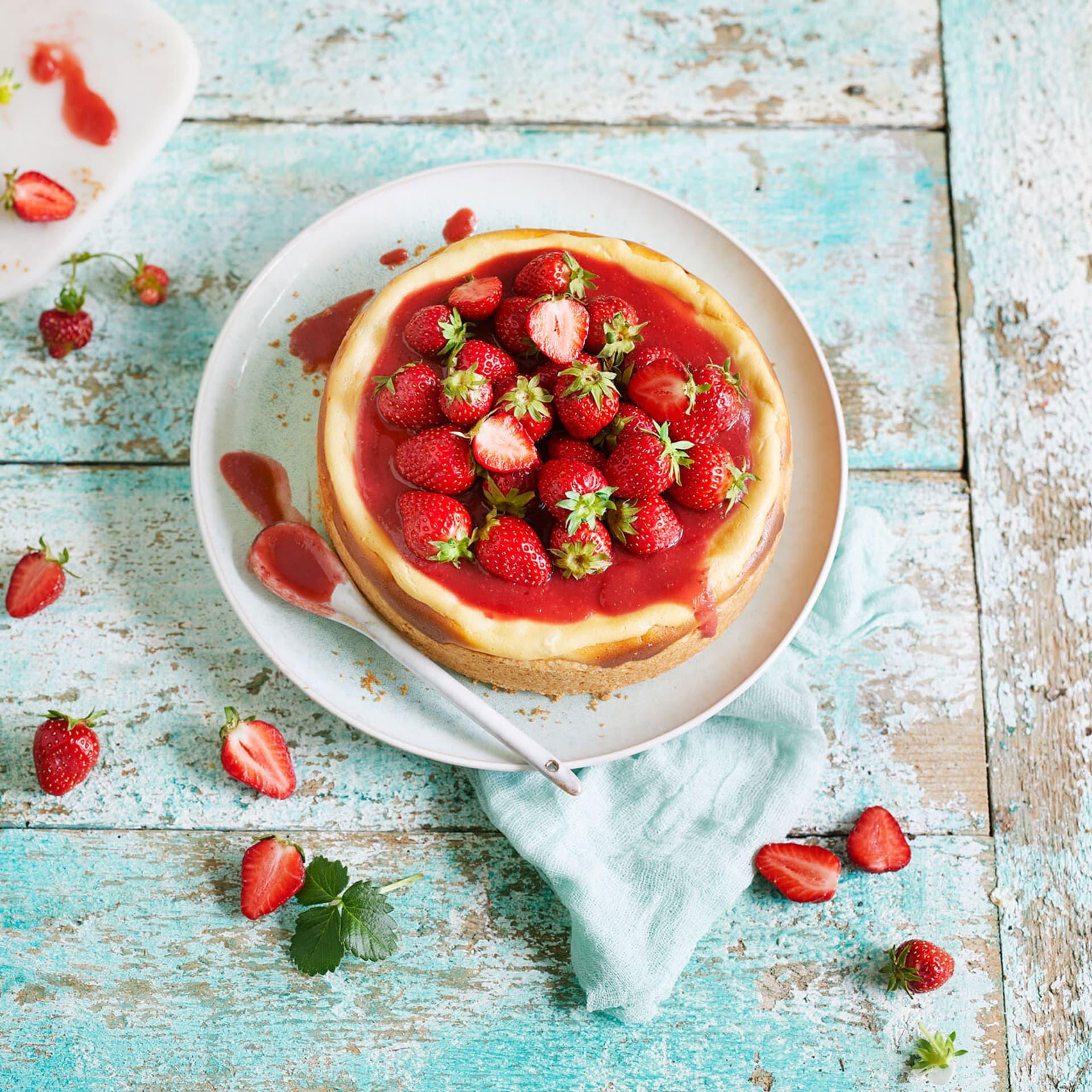 Erdbeeren und Erdbeerkuchen