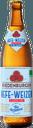 Eien Flasche alkoholfreier Hefe-Weizen