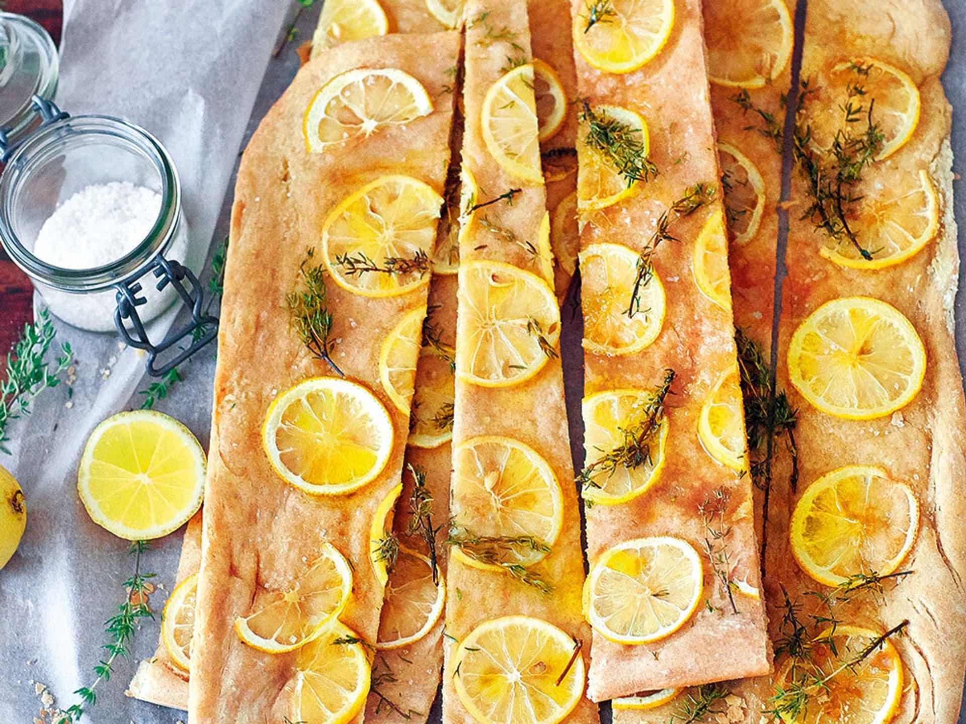 Zitronen-Pizzabrot