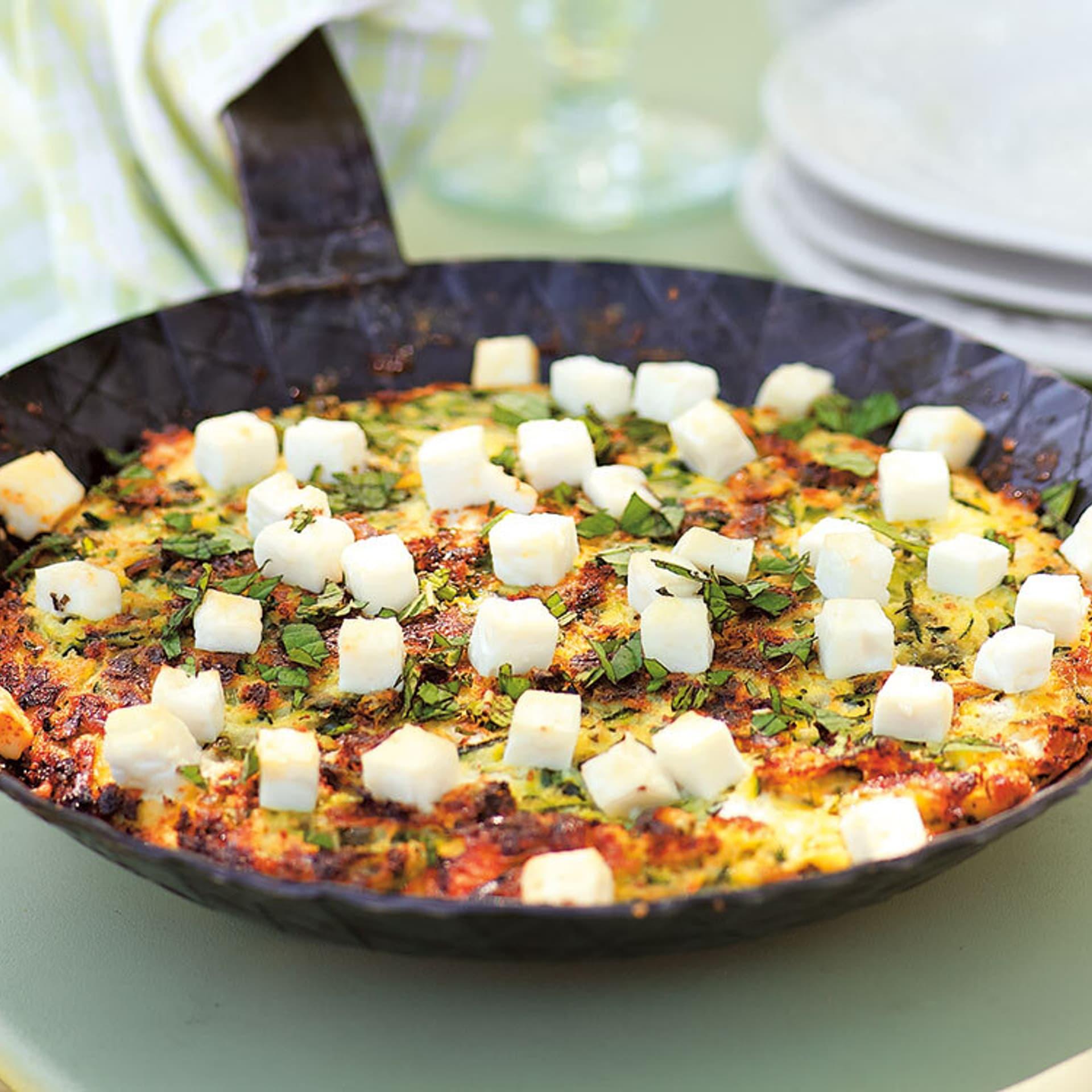 Zucchini-Minz-Frittata