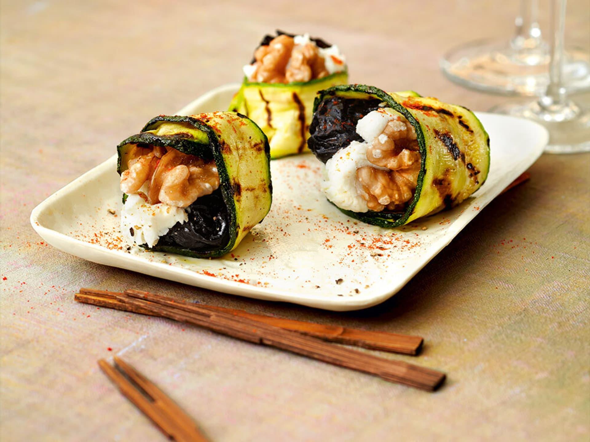 Zucchini pflaumen paeckchen