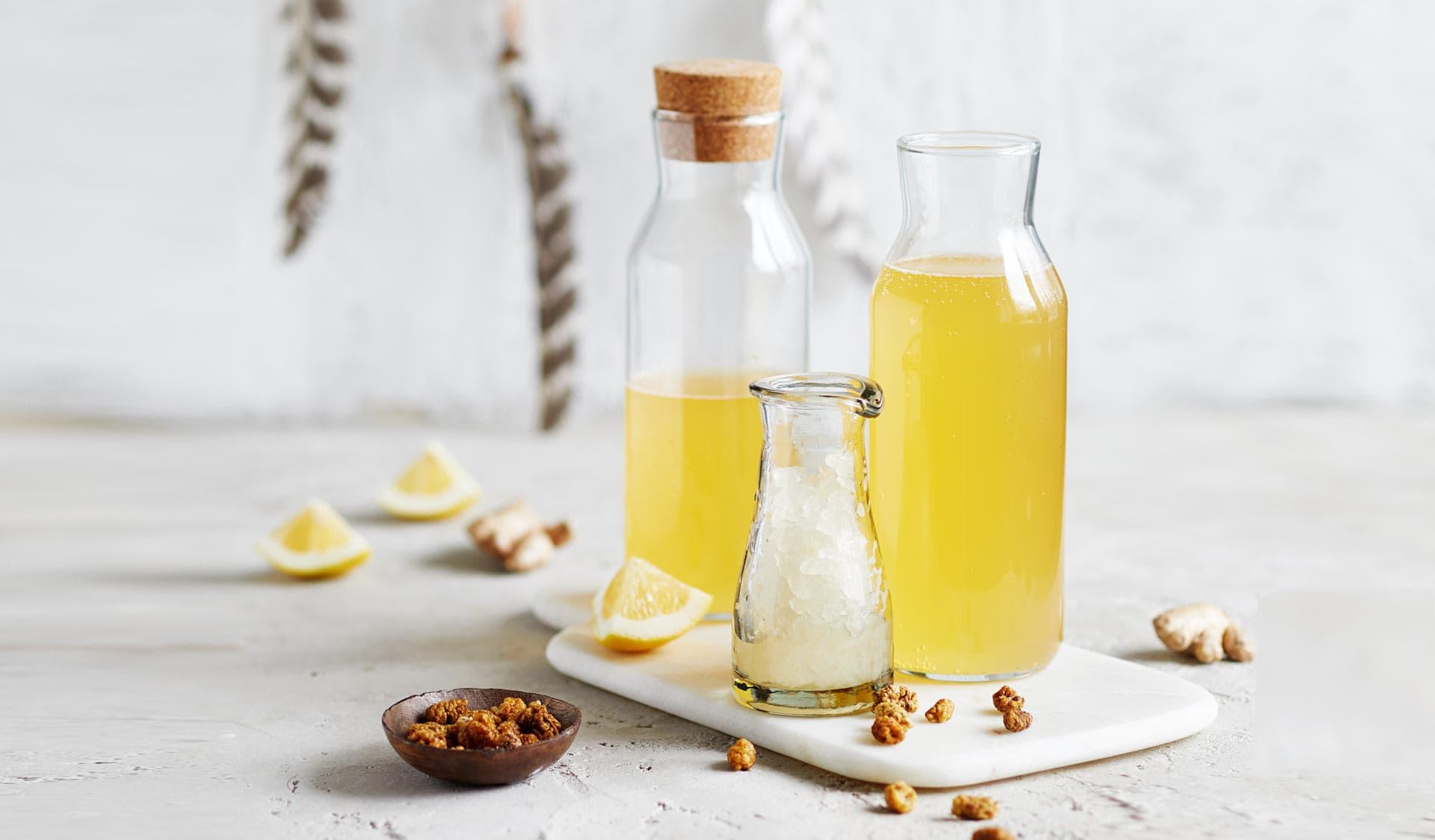 Maulbeeren Wasserkefir Limonade