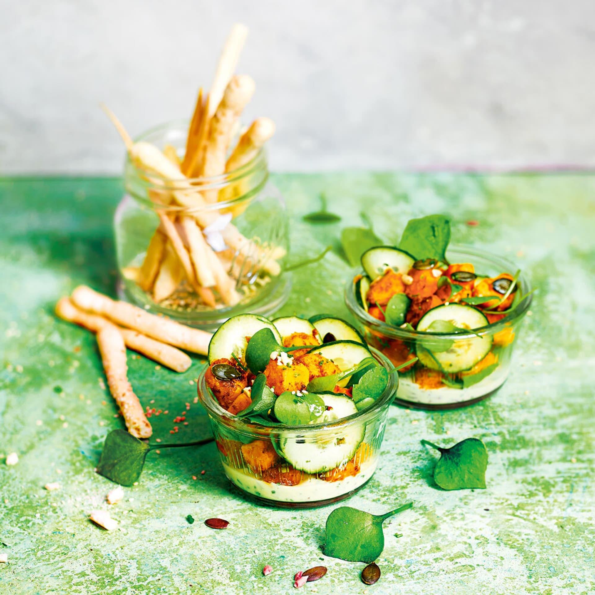 Portulak Süßkartoffelsalat