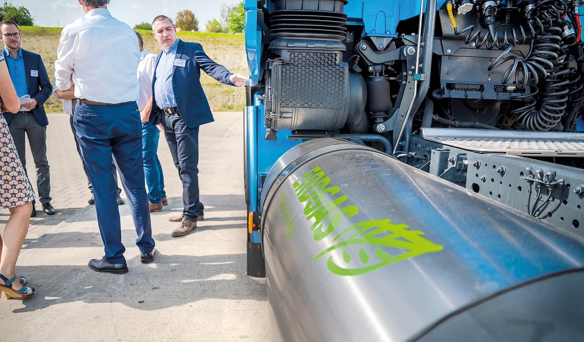 Erdgas Lkw bei Bodan