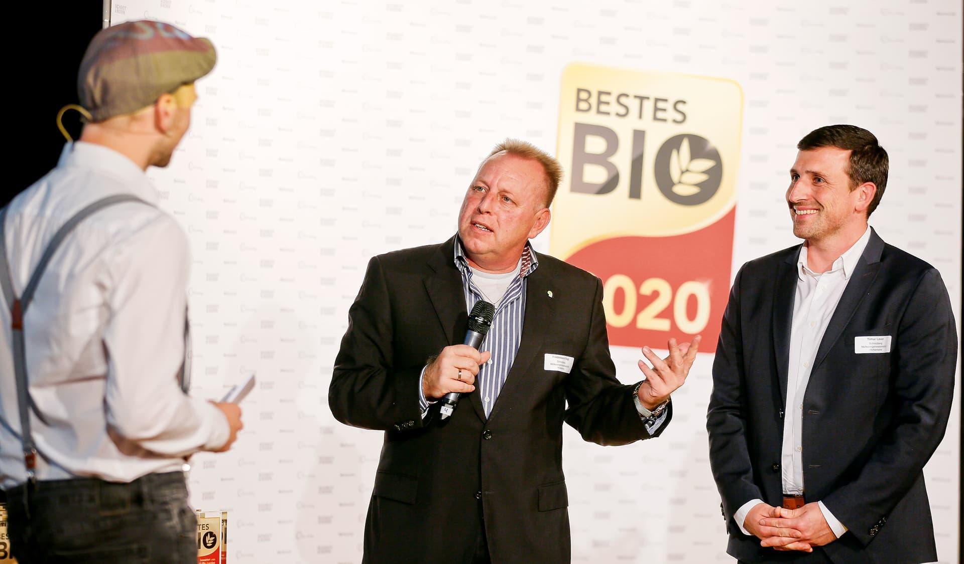Preisträger mit Moderator