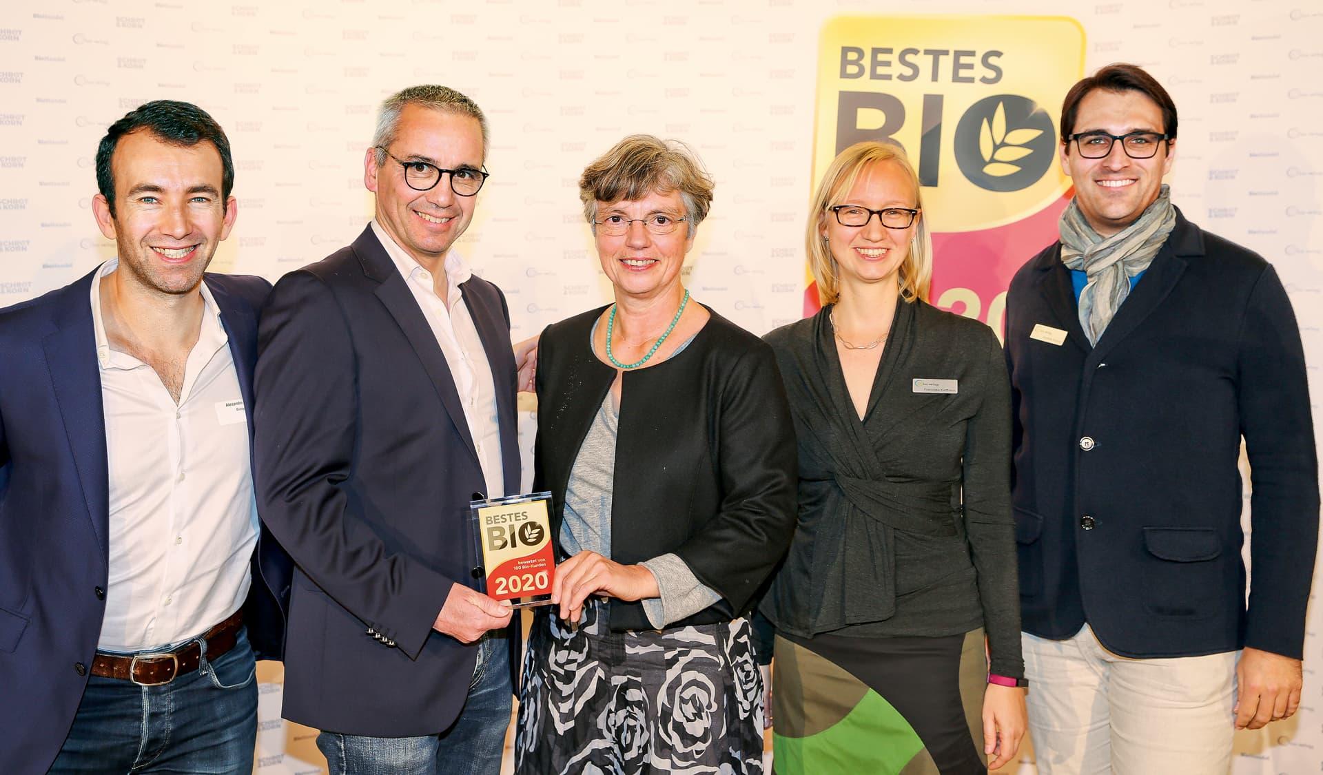 Preisträger mit Bestes Bio-Team