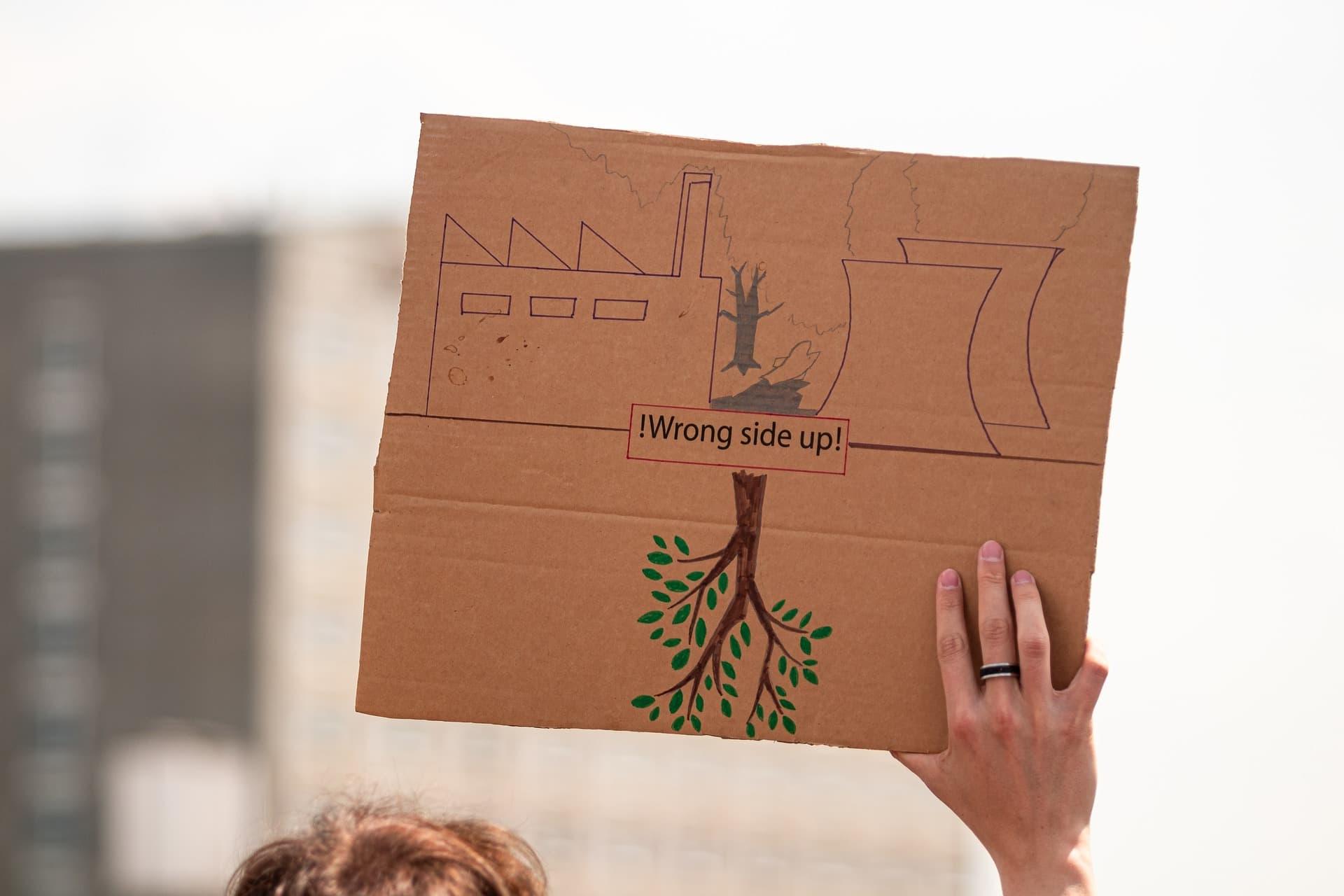Plakat bei Klimaschutz-Demo
