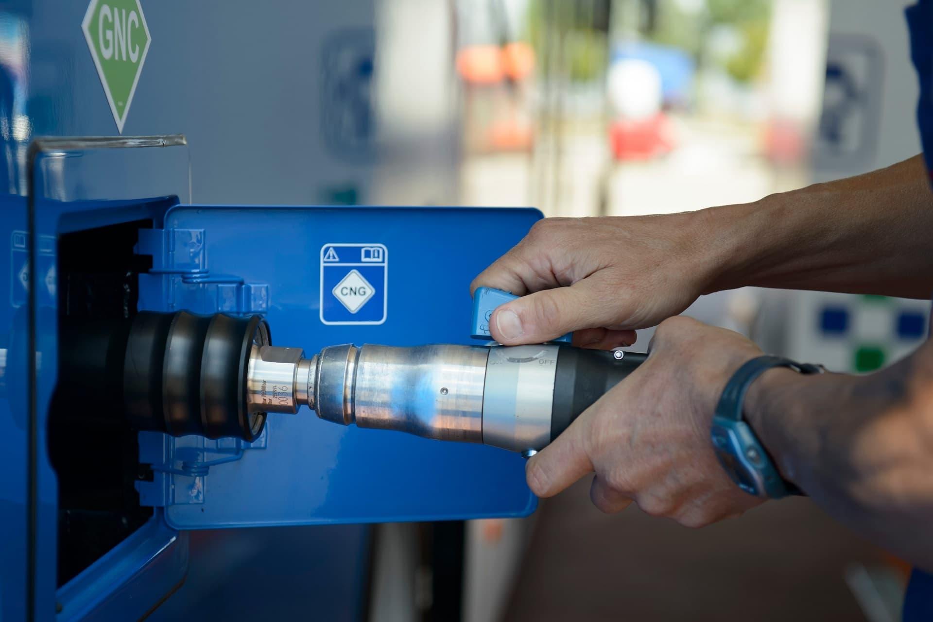 CNG Erdgas tanken
