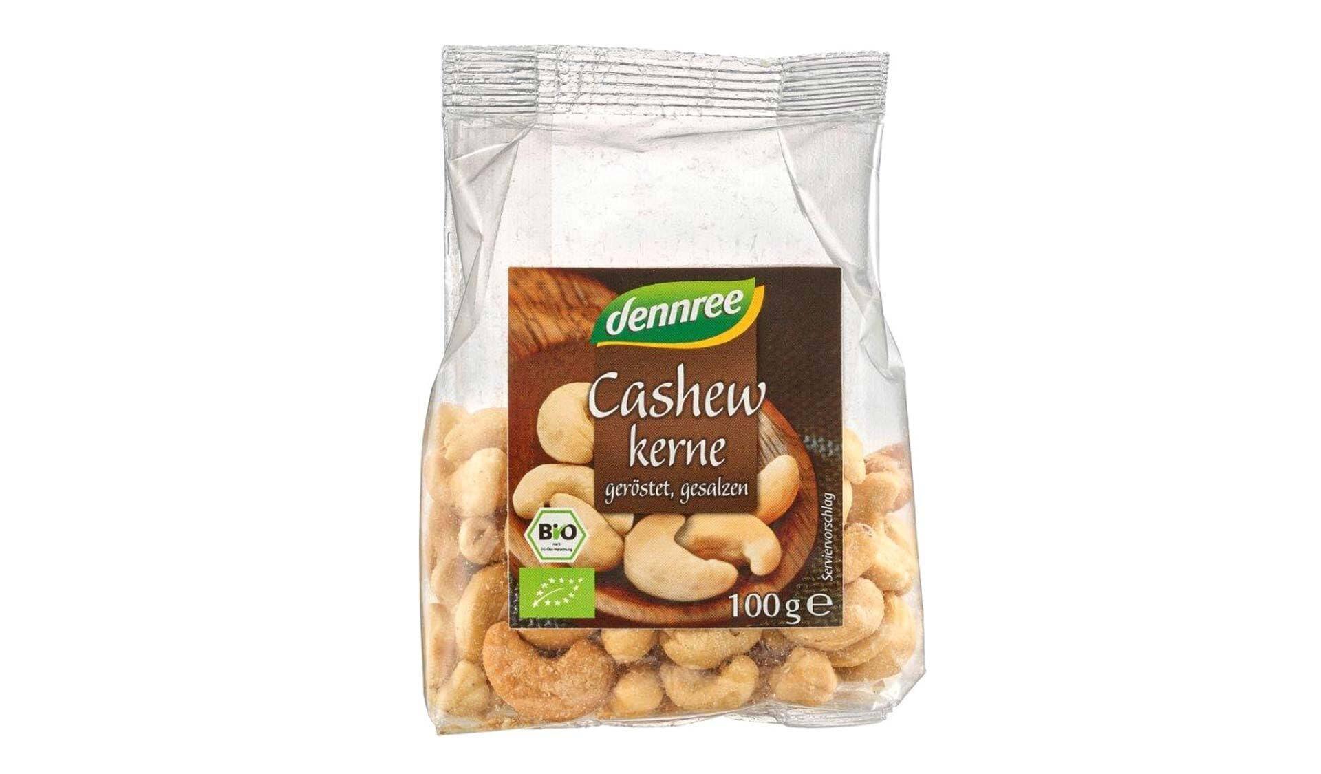 Dennree: Cashewkerne geroestet und gesalzen