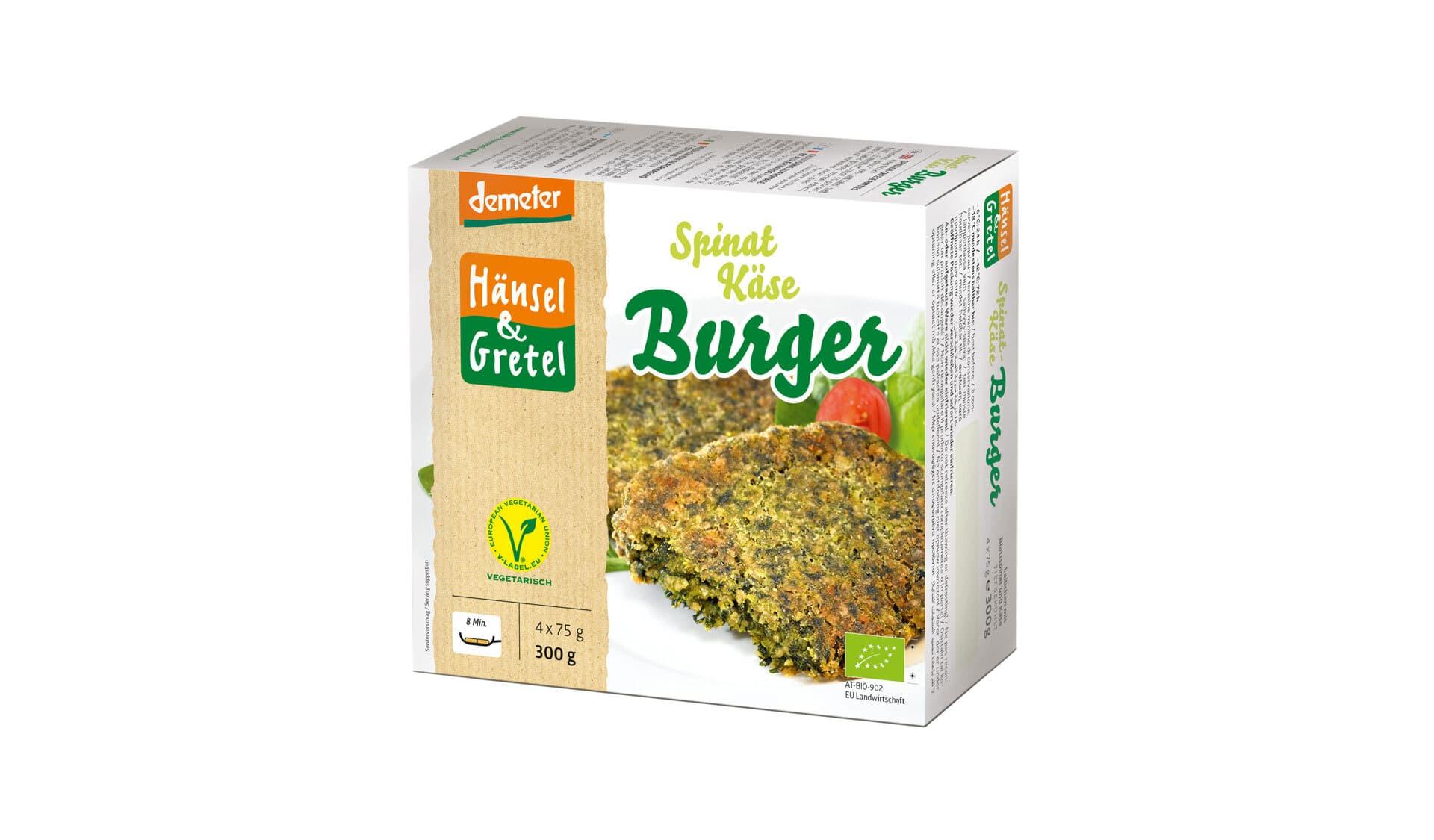 Hänsel & Gretel Spinat Kaese Burger