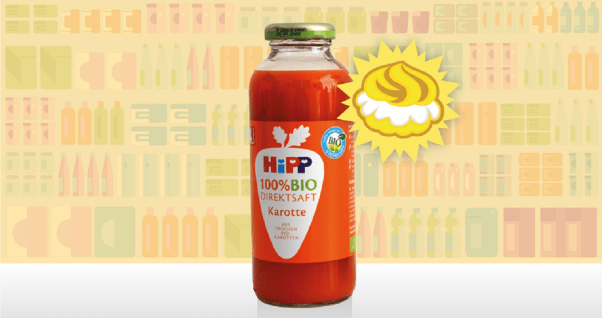 Karottensaft von Hipp