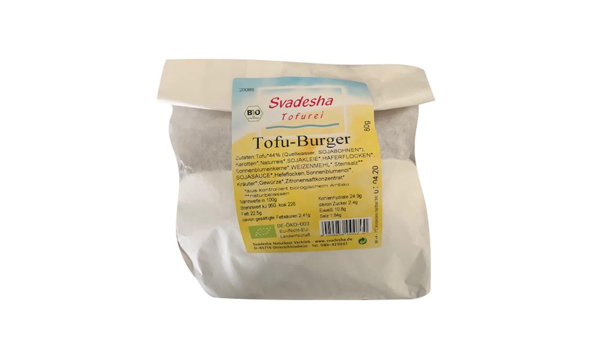 Svadesha Tofu Burger