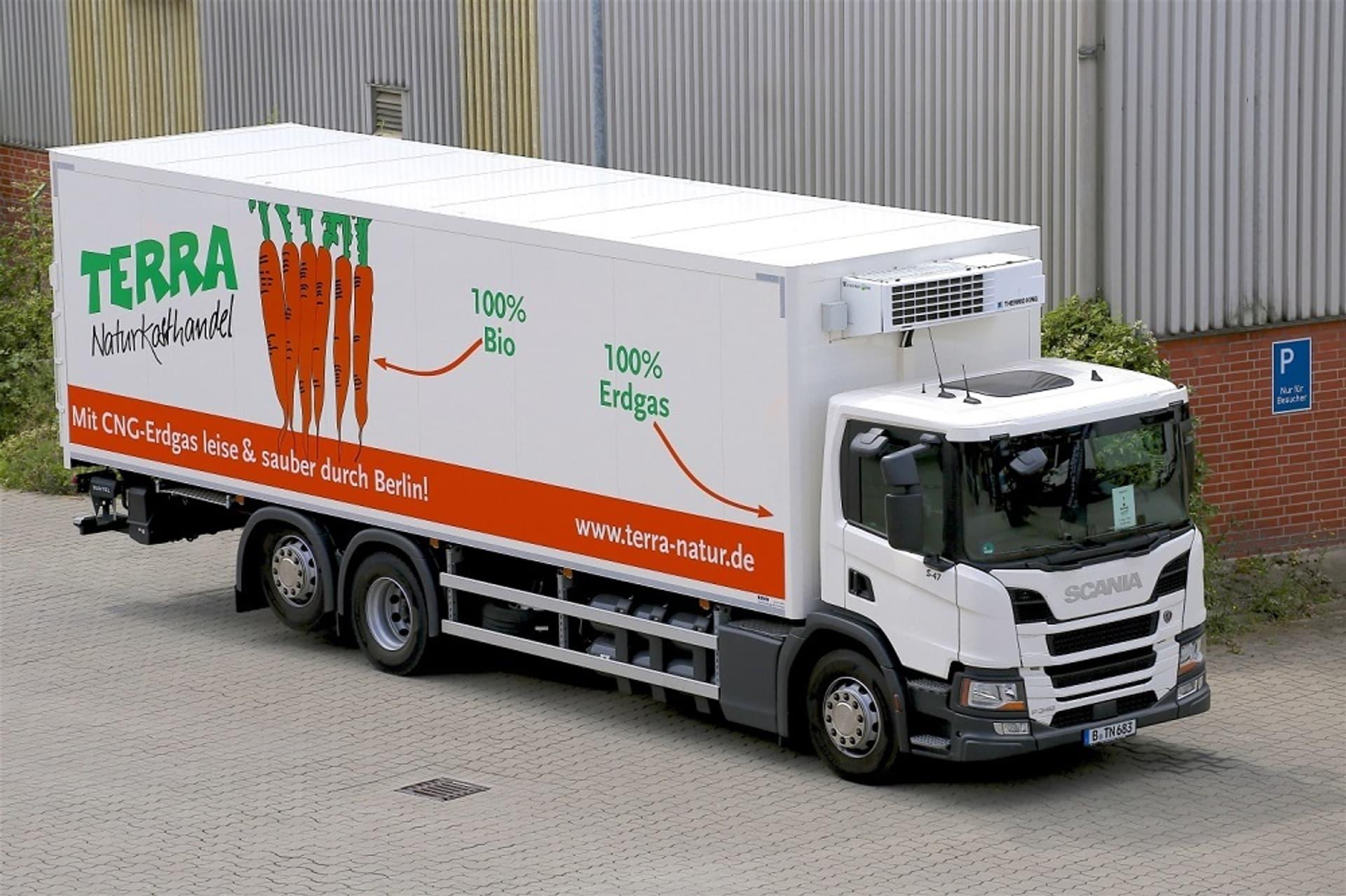 Erdgas-Lkw von Terra Naturkost