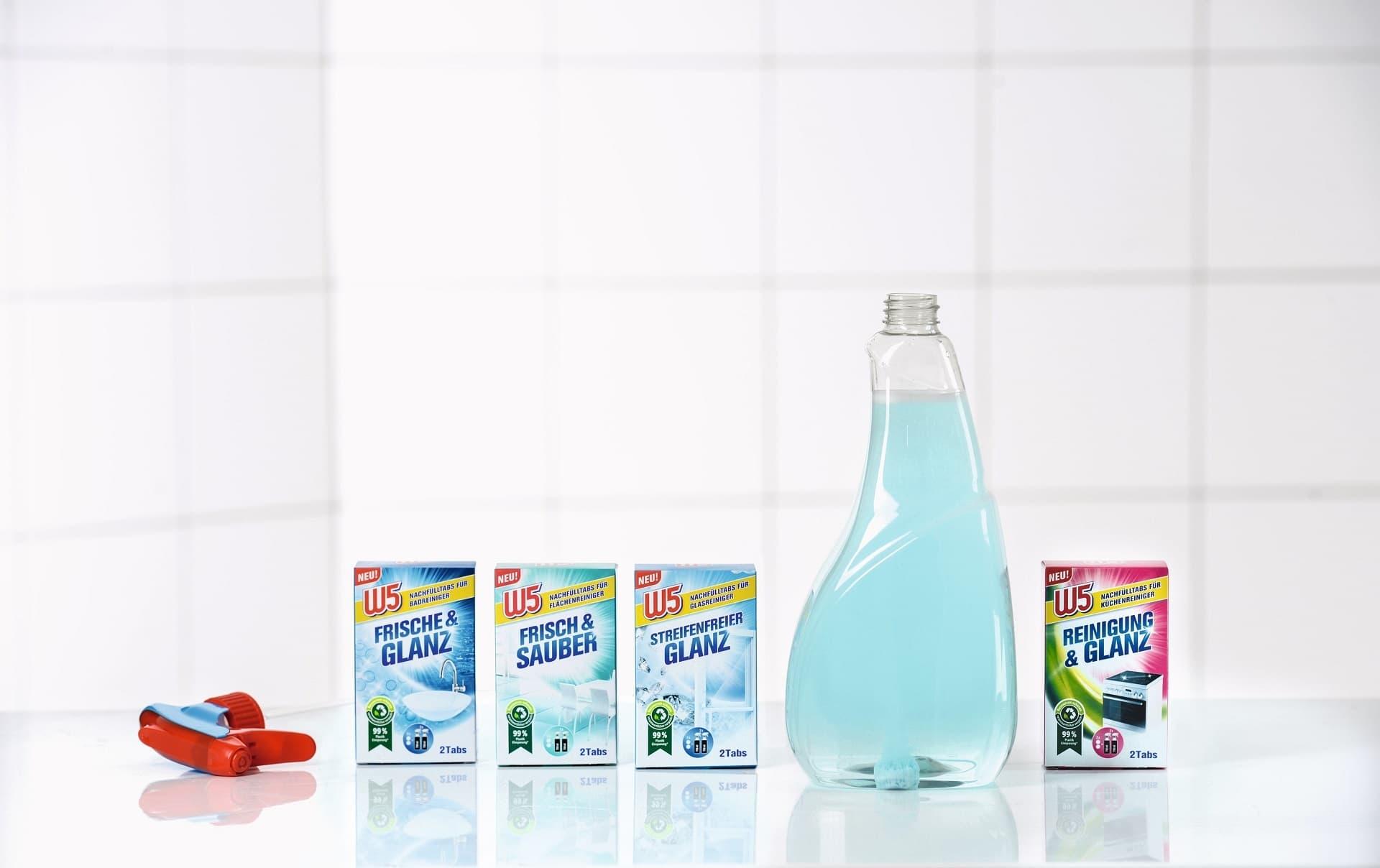 Nachfuelltabs und Rezyklatflaschen von Lidl