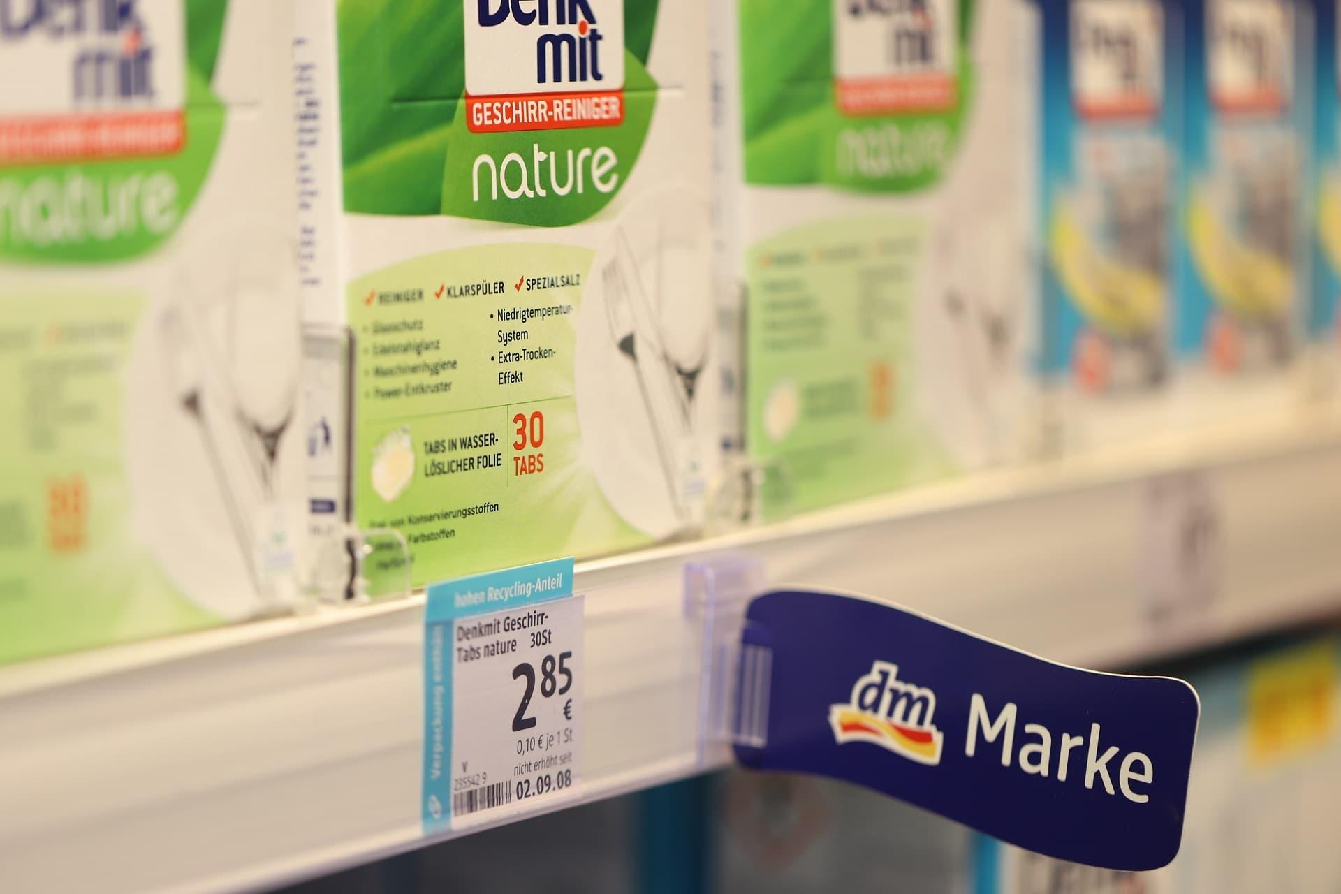 Spülmaschinentabs der Dm-Eigenmarke