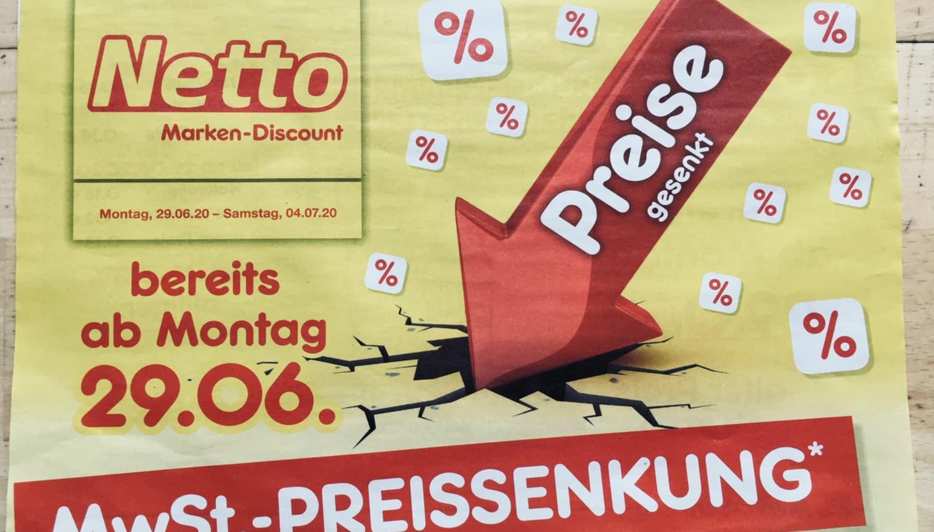 Werbeprospekt von Discounter Netto