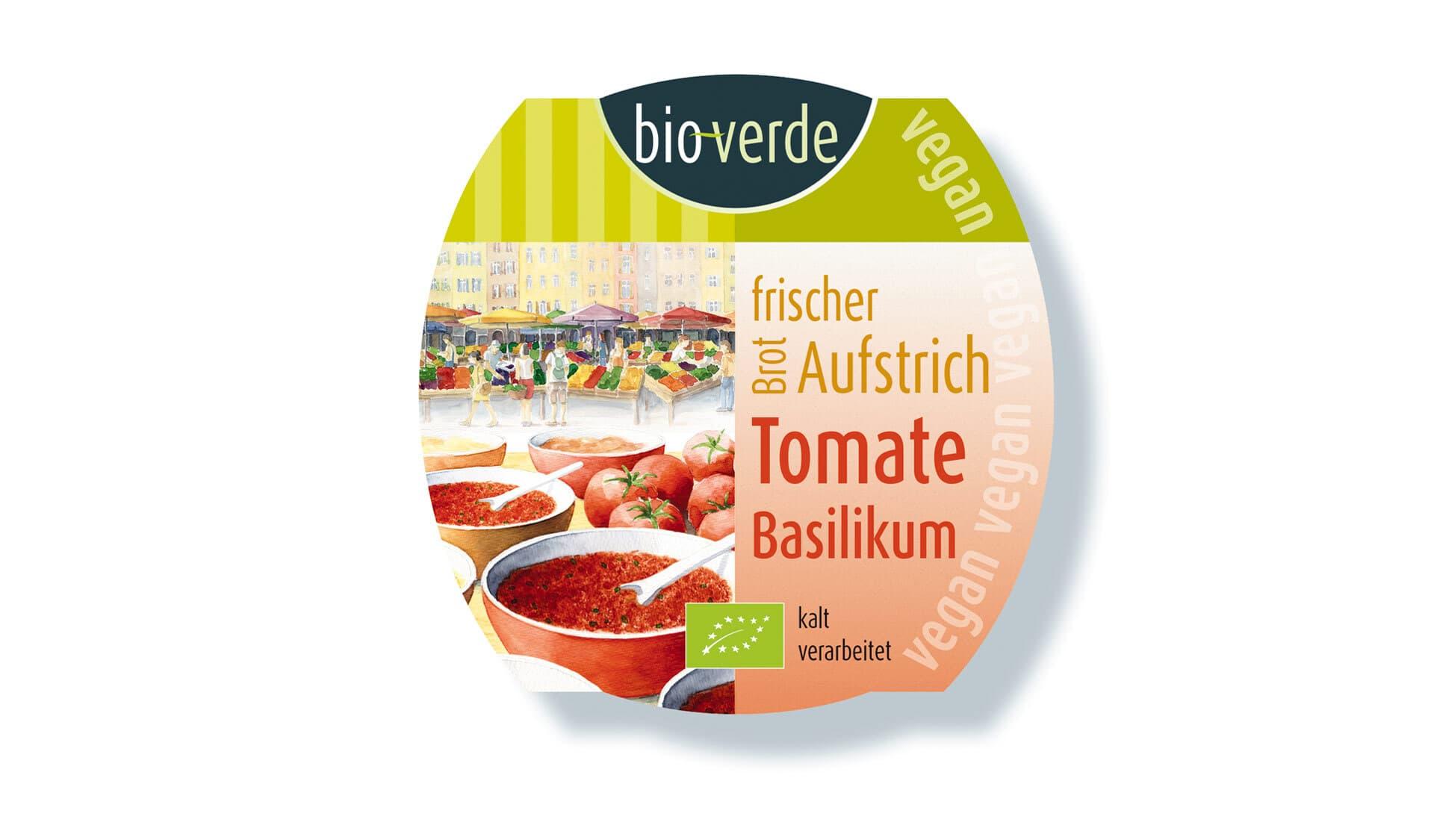 Bio Verde: Brotaufstrich Tomate-Basilikum