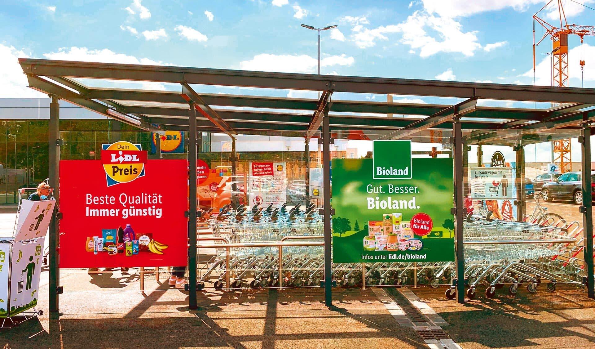 Bioland-Werbung bei Lidl