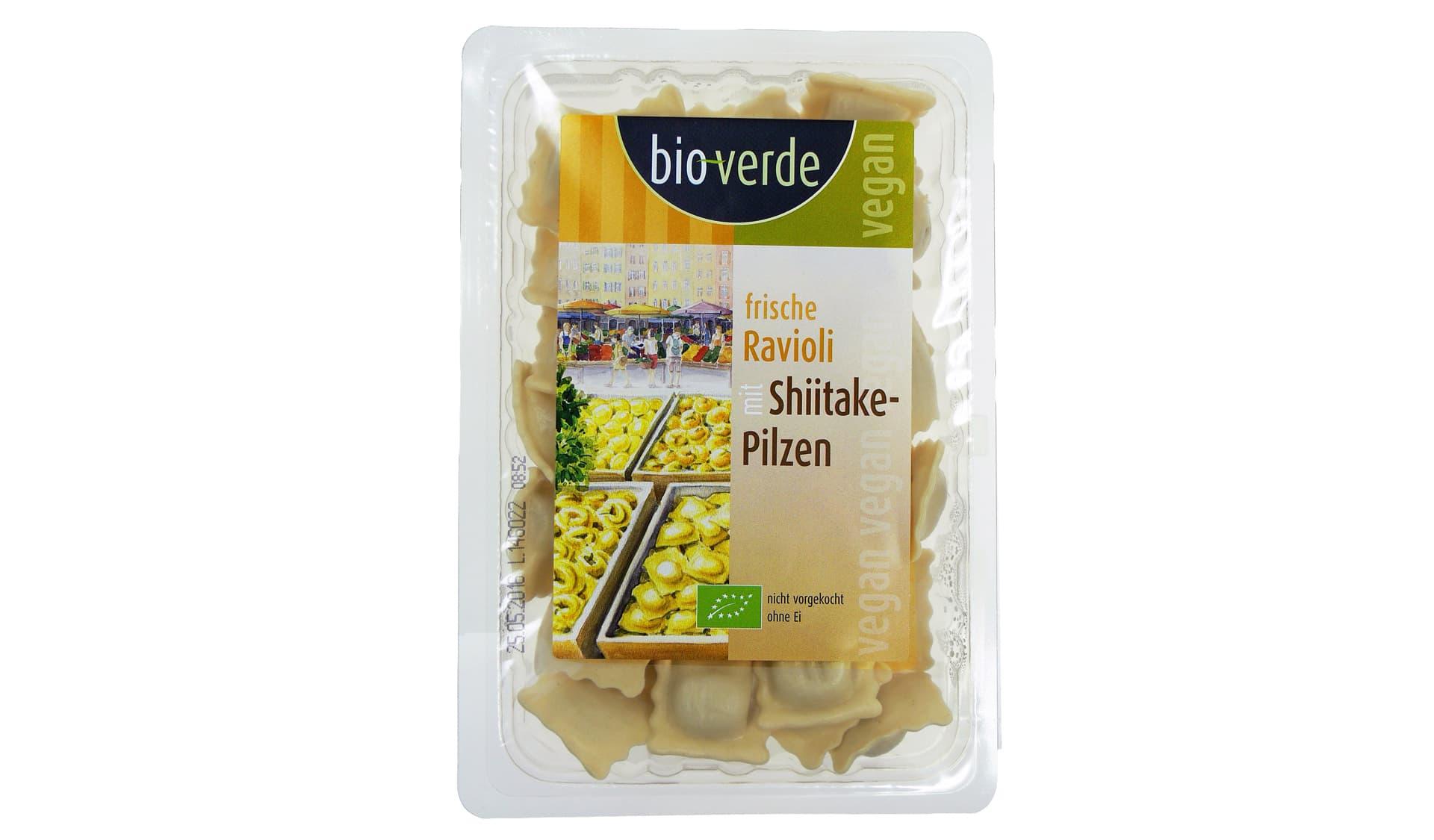 bioverde (www.isana.de) Frische Ravioli mit Shiitake-Pilzen