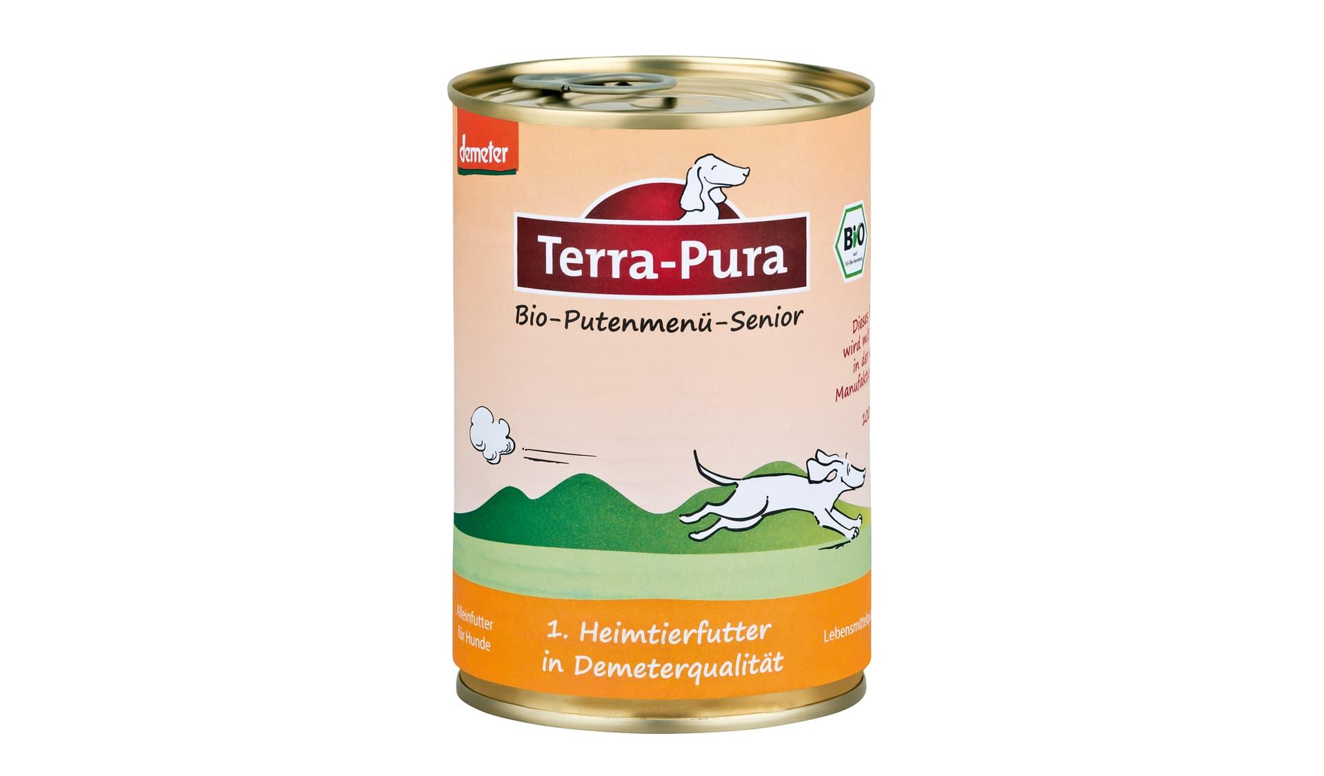 Terra Pura (www.terra-pura-tiernahrung.de) Bio-Putenmenü-Senior
