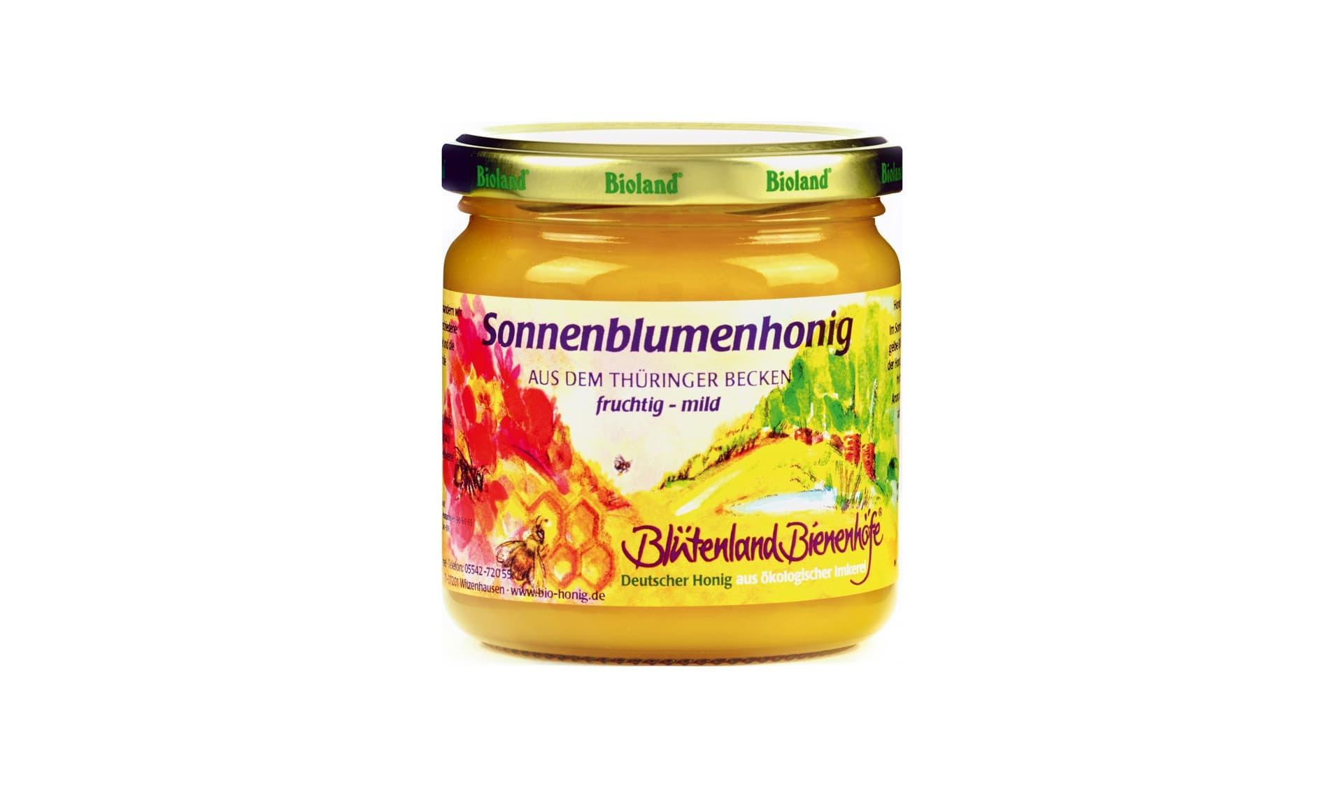 Blütenland Bienenhonige Sonnenblumenhonig aus dem Thüringer Becken (www.bio-honig.de)