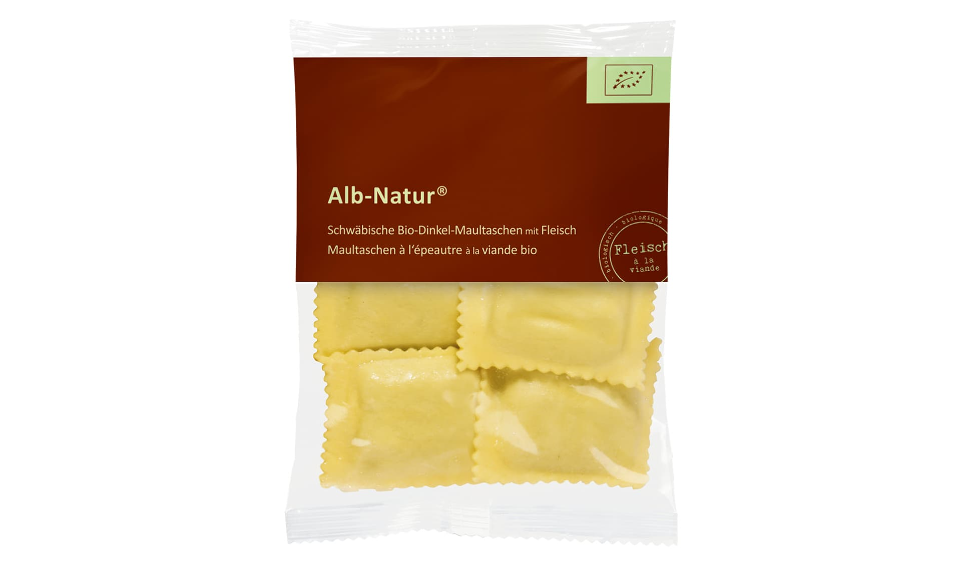 Alb-Natur (www.alb-natur.de) Schwäbische Bio-Dinkel-Maultaschen mit Fleisch