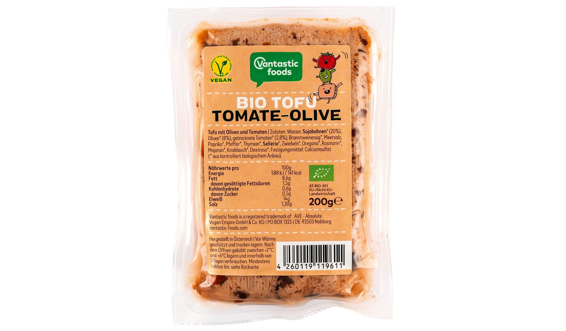 Vantastic Bio Tofu Tomate-Olive (www.vantastic-foods.com)