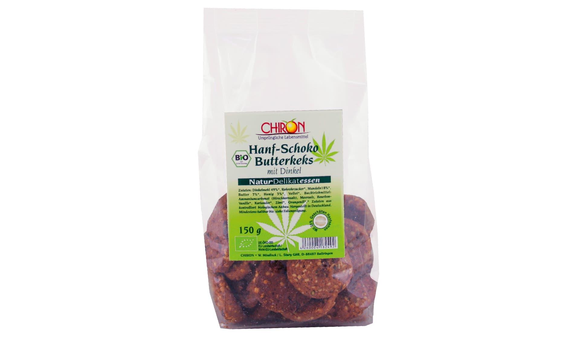 Chiron Hanf-Schoko Butterkeks (www.naturdelikatessen.de)