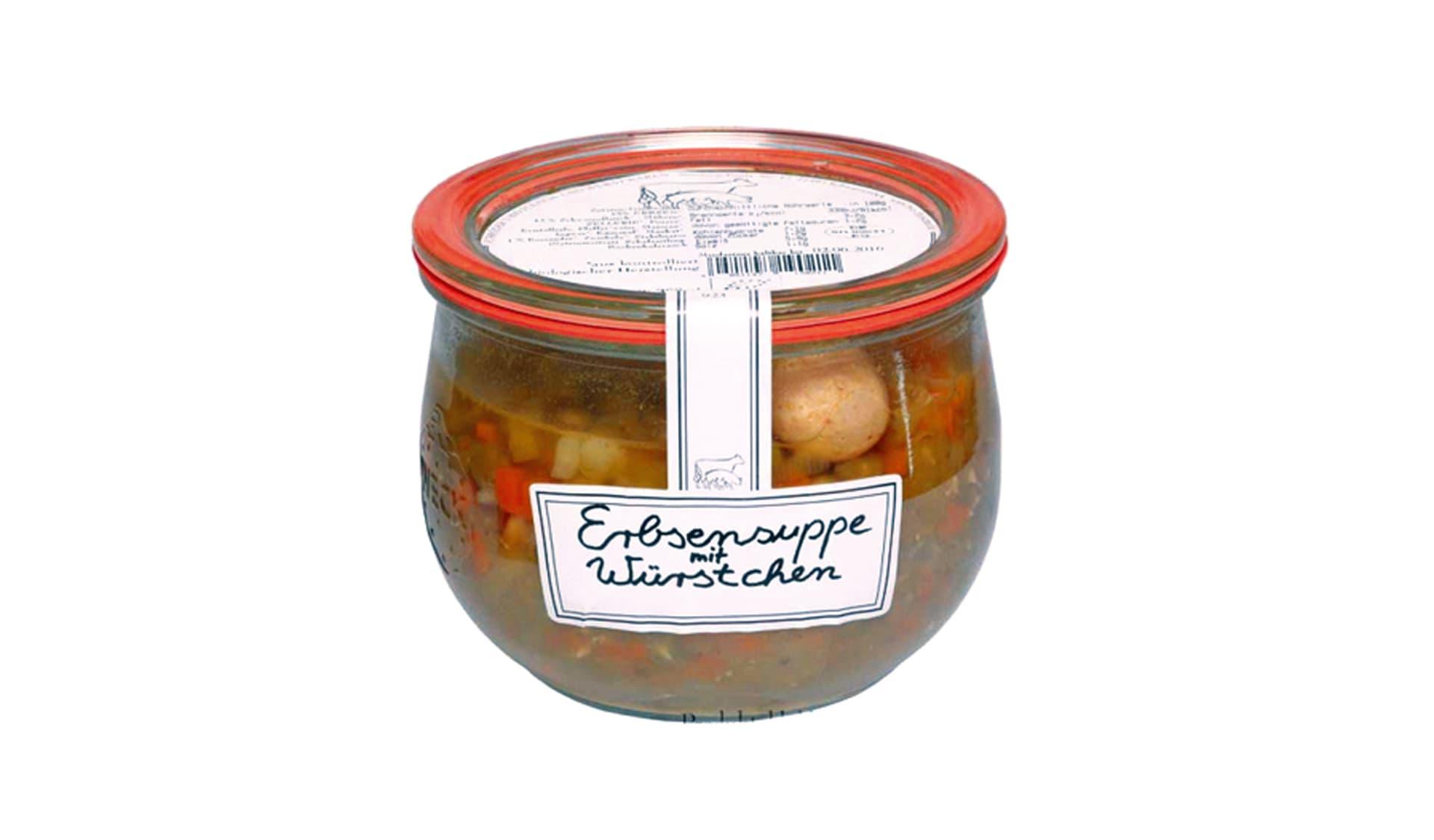 Schroeders Erbsensuppe mit Würstchen (www.bio-fleischer.de)