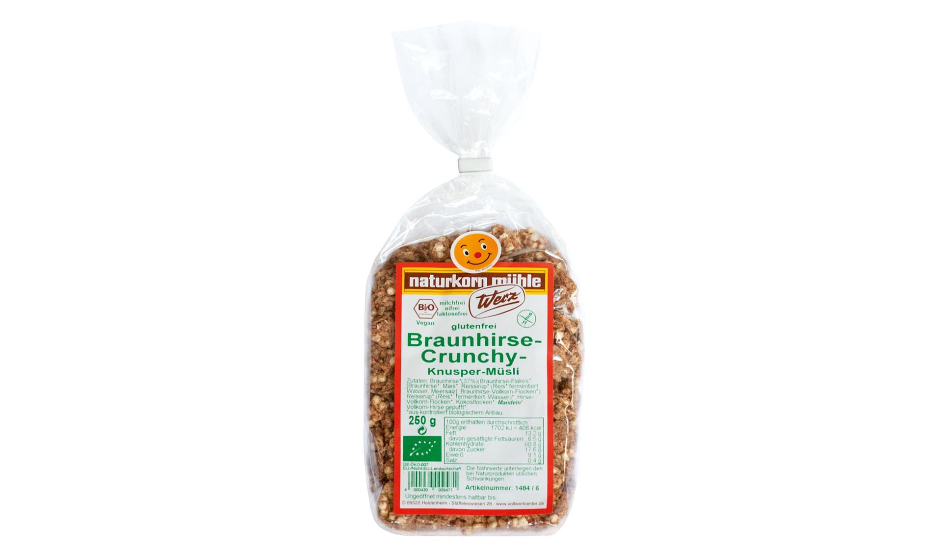 Werz (www.werz.bio) Braunhirse-Crunchy, Knusper-Müsli