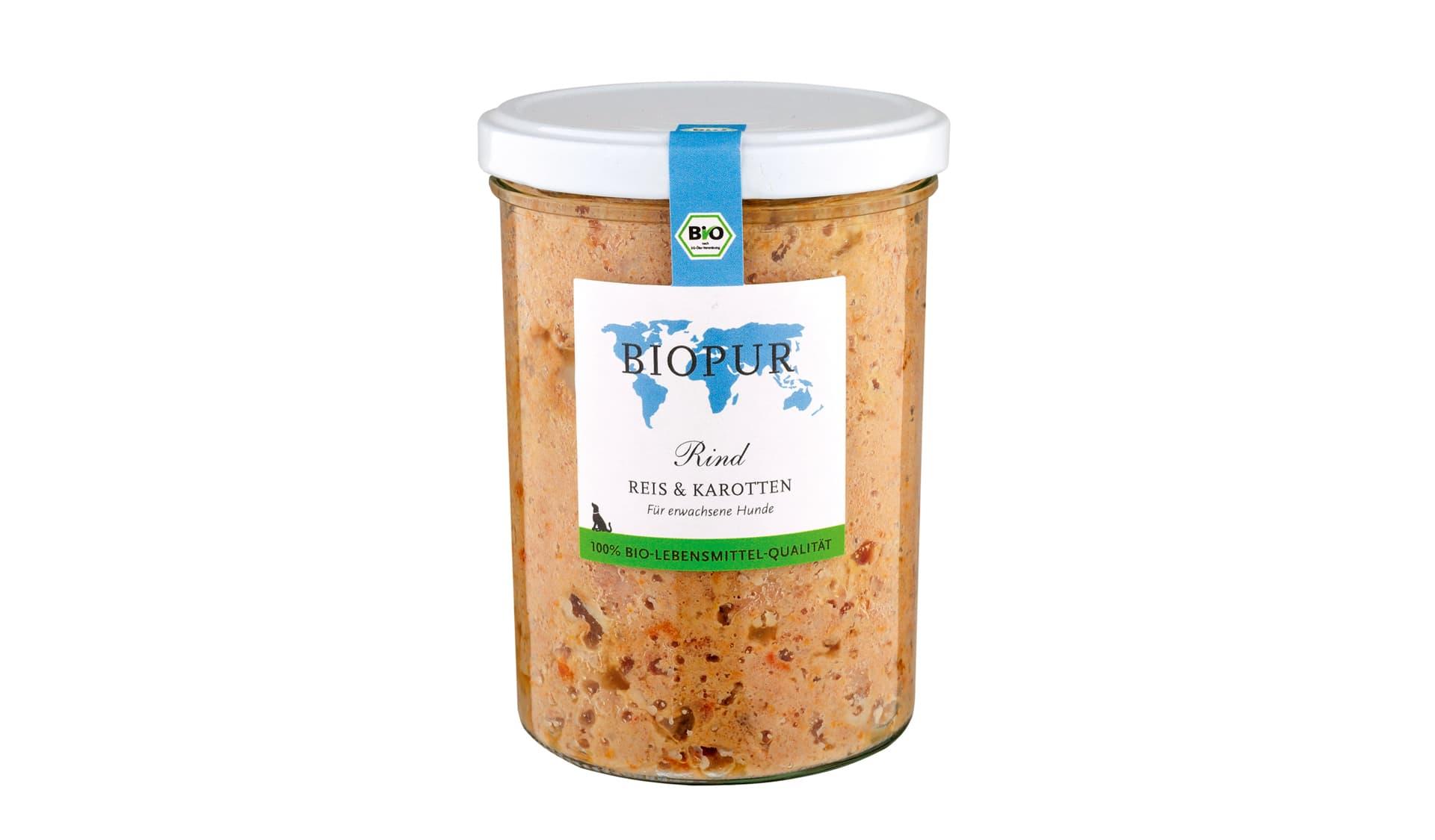 Biopur (www.biopur.de) Rind, Reis und Karotte, für erwachsene Hunde