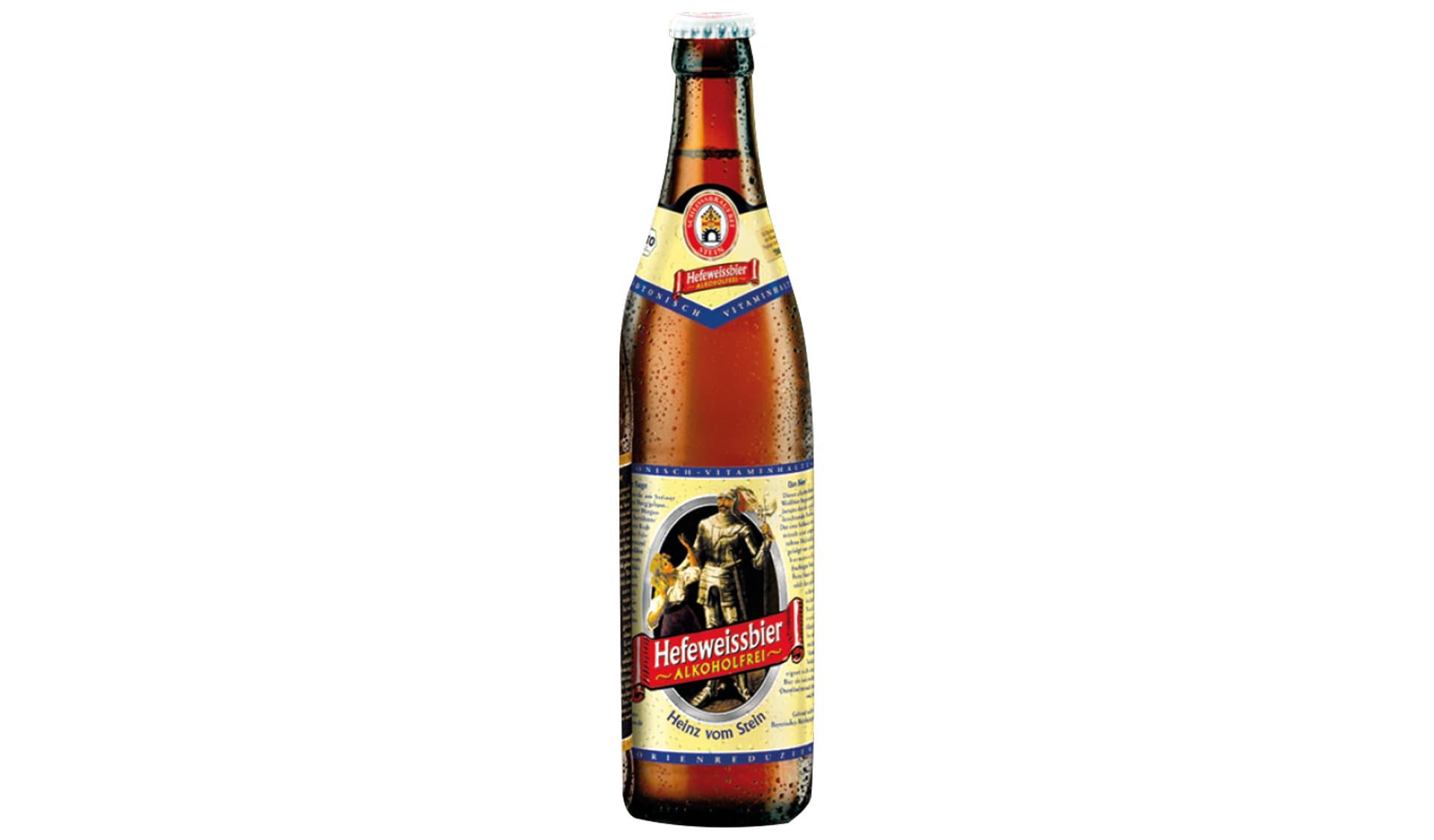 Schlossbrauerei Stein Heinz v. Stein Alkoholfr. Weißbier (www.steiner-bier.de)