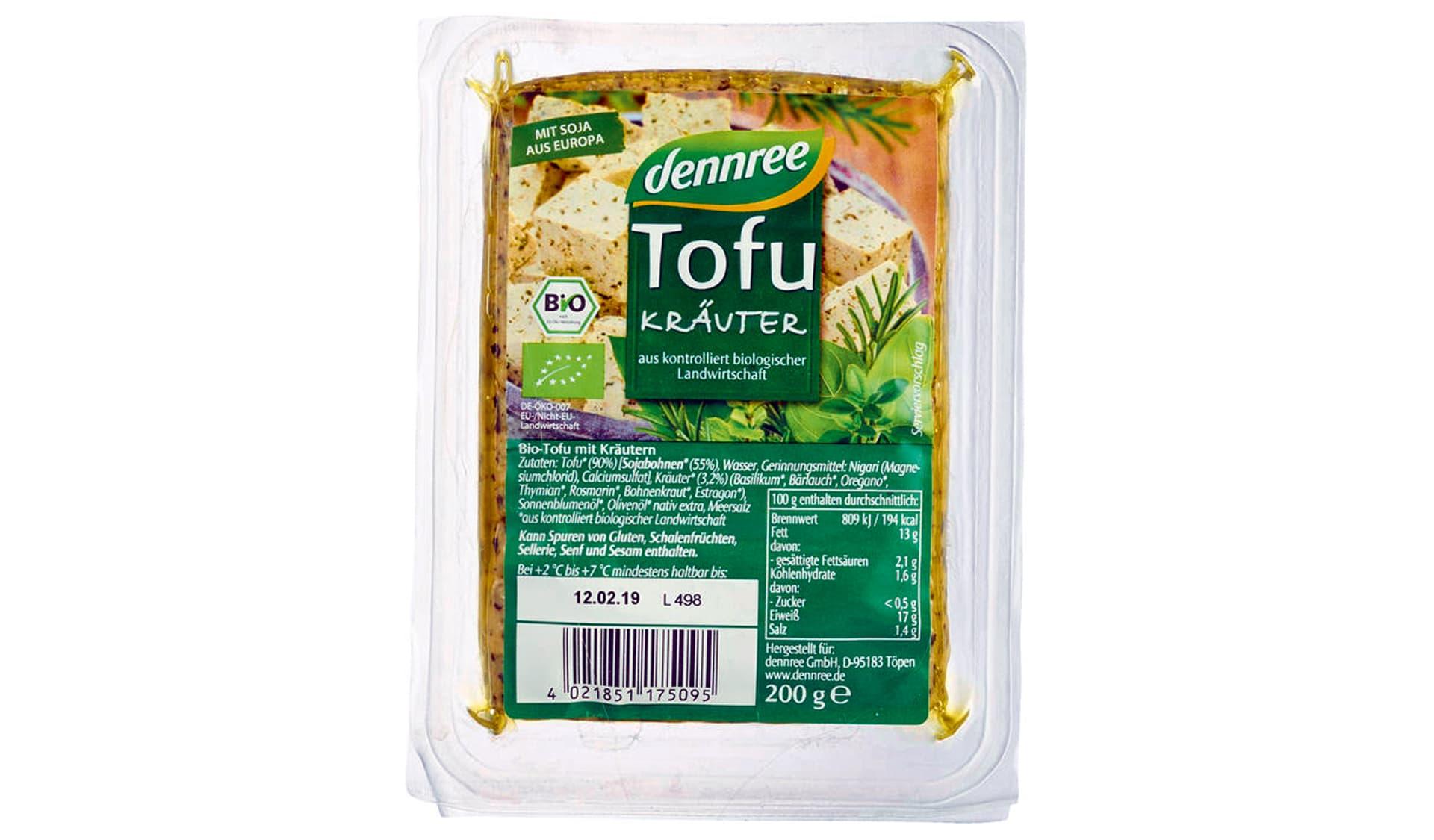 Dennree Tofu Kräuter (www.dennree.de)