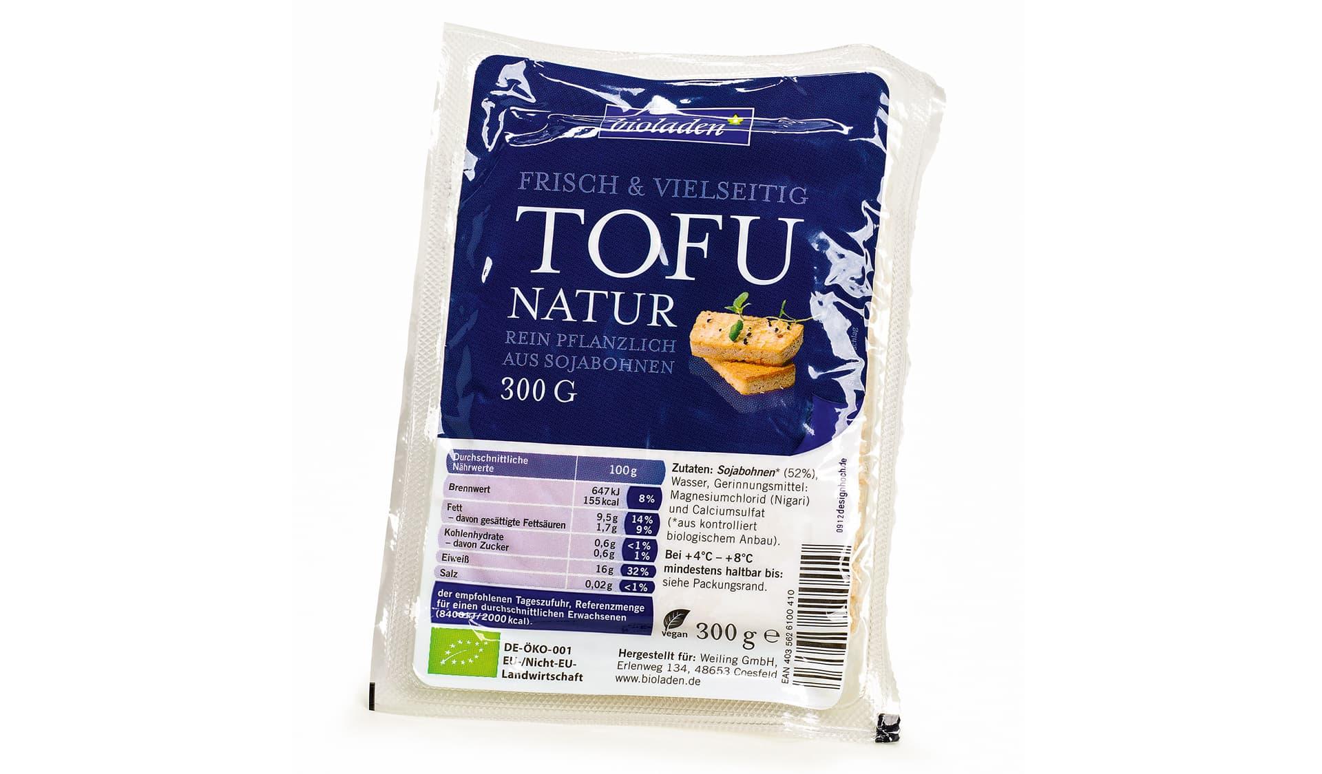 Bioladen Tofu natur (www.weiling.de)