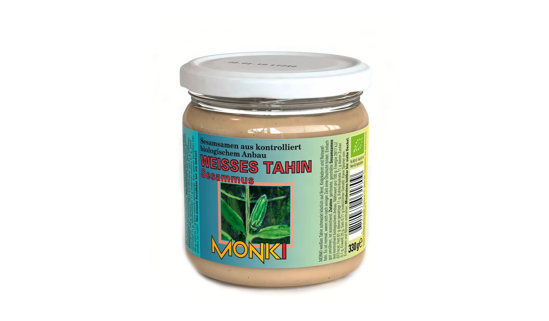 Monki Weißes Tahin Sesammus (www.horizonnatuurvoeding.nl)