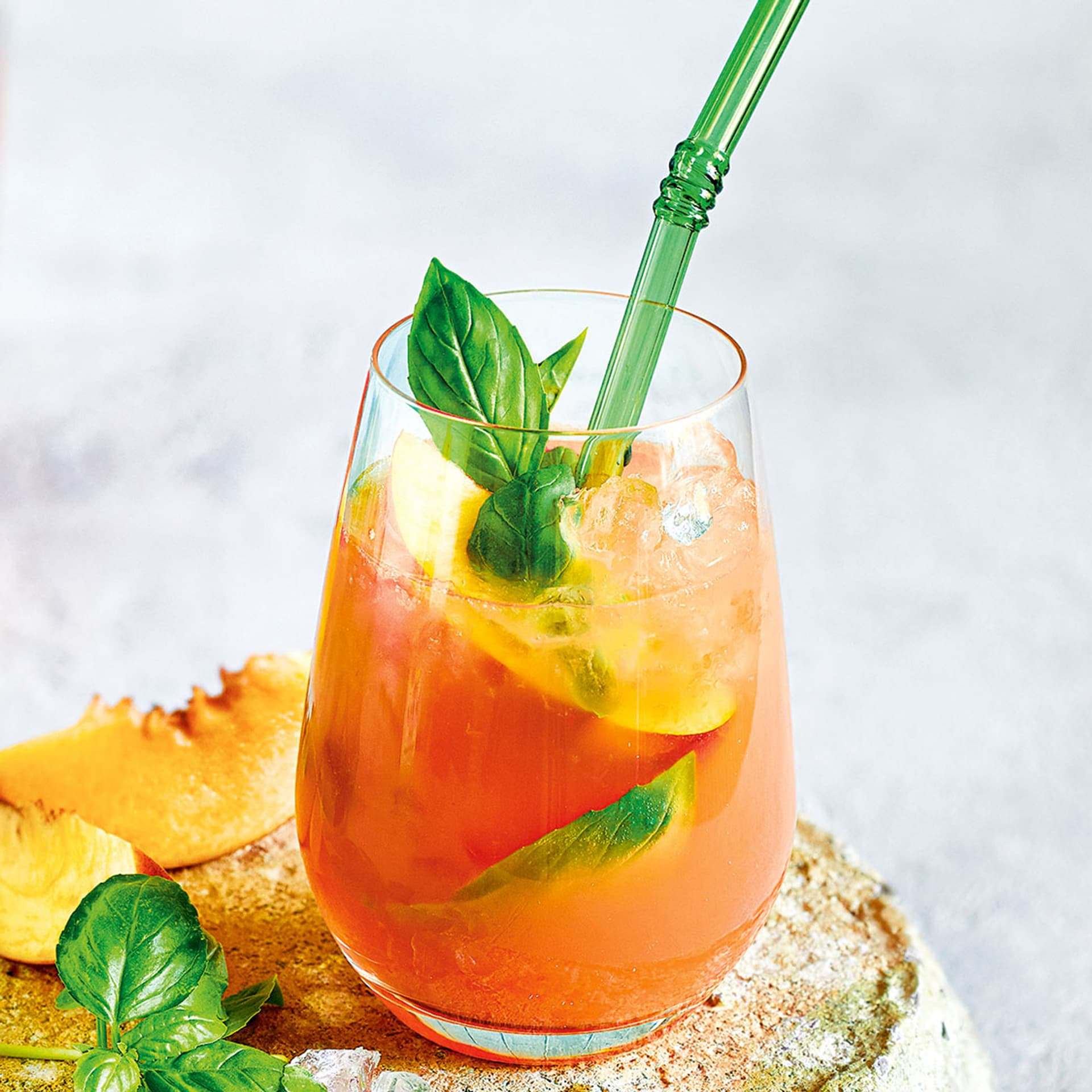 Pink Grapefruit-Pfirsich-Mocktail