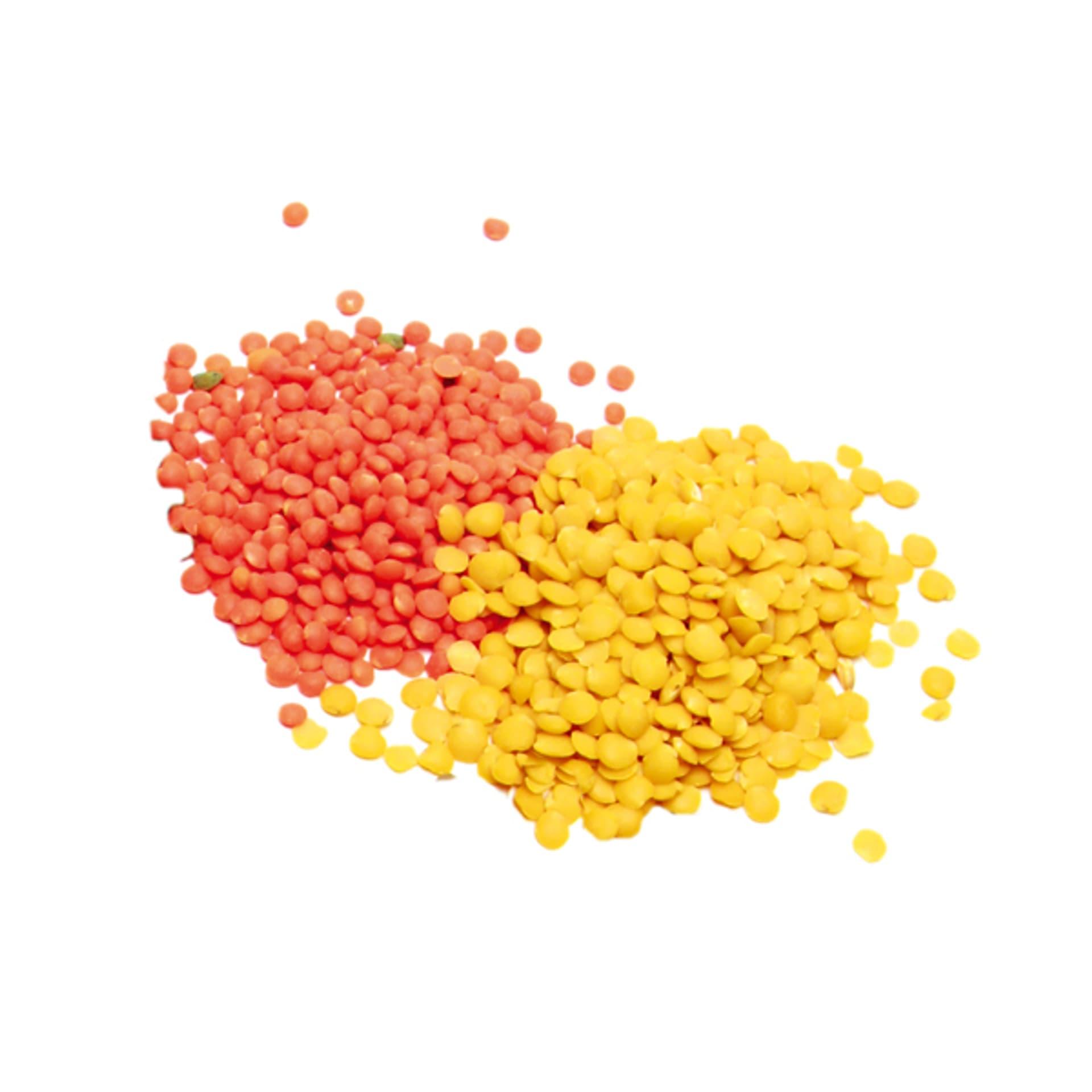 Rote Gelbe Linsen
