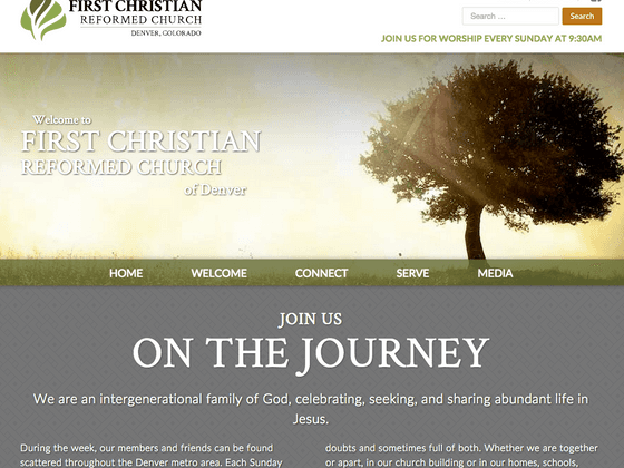First Christian Reformed Church - Pageworks