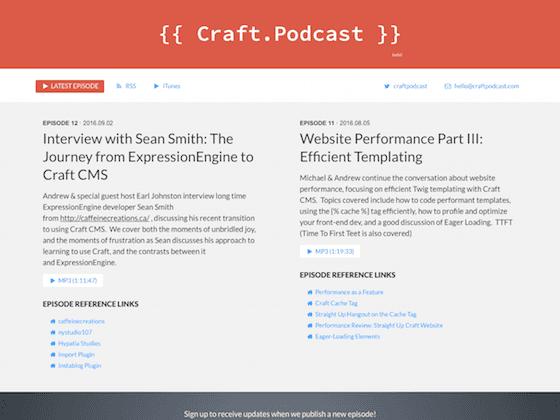 Craft Podcast [performance optimization] - nystudio107