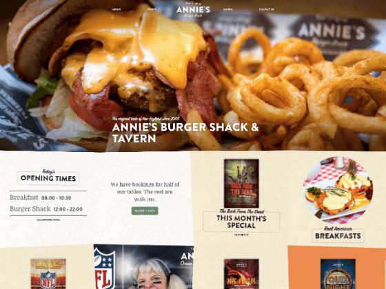 Annie's Burger Shack - webdna