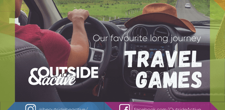 Outside and active long journey family travel car games